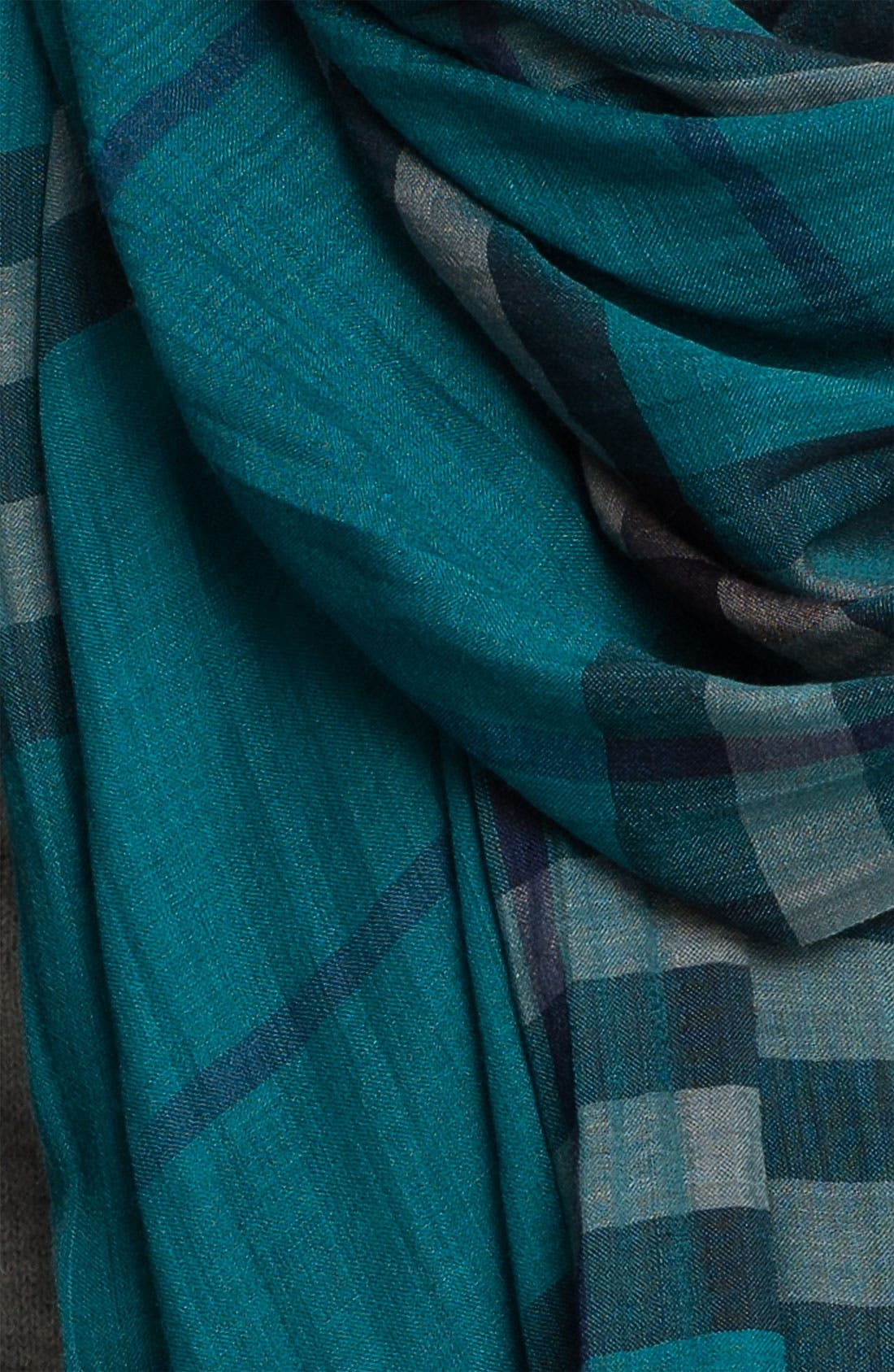 Giant Check Print Wool & Silk Scarf,                             Alternate thumbnail 99, color,