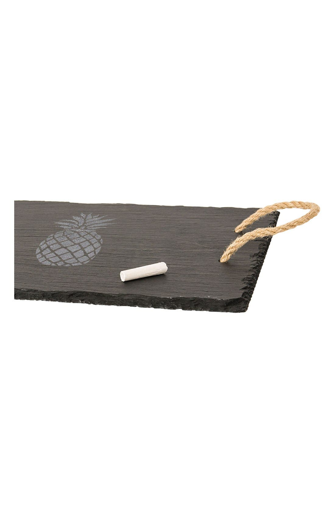 Pineapple Slate Serving Tray,                             Alternate thumbnail 5, color,                             020