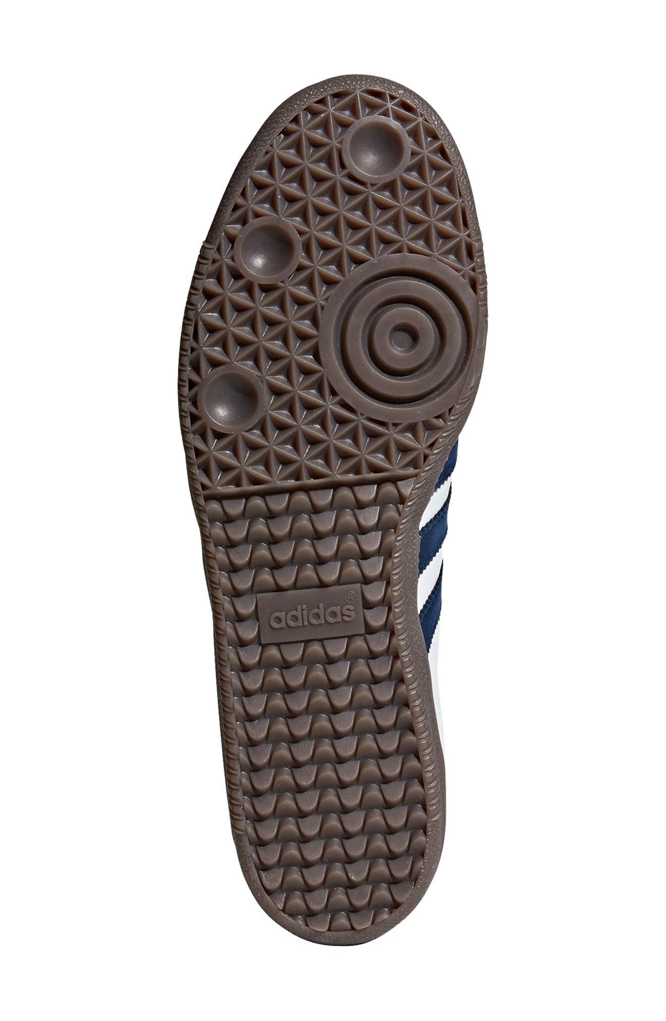 Samba OG Sneaker,                             Alternate thumbnail 5, color,                             WHITE/ NAVY / CRYSTAL WHITE