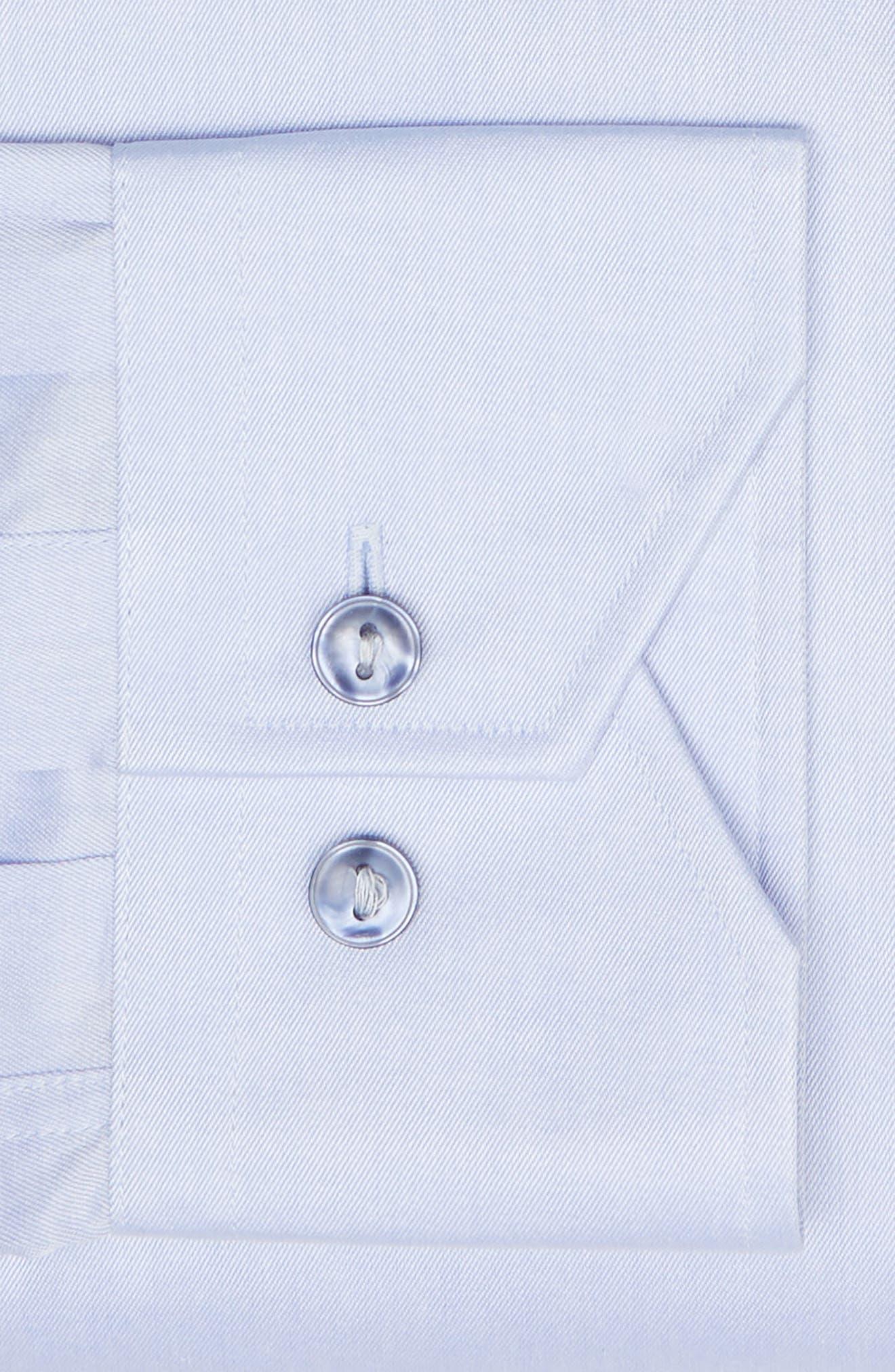 LORENZO UOMO,                             Trim Fit Solid Dress Shirt,                             Alternate thumbnail 6, color,                             LIGHT BLUE