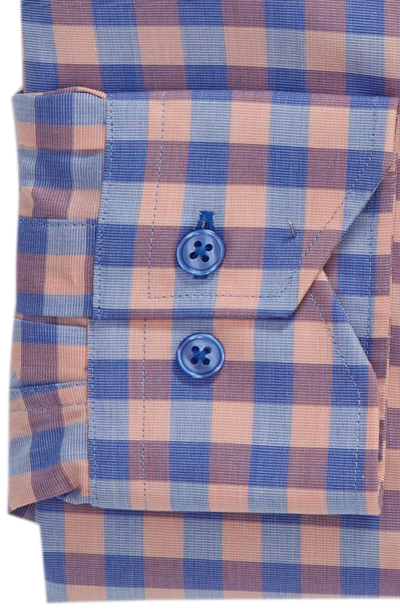 Trim Fit Check Dress Shirt,                             Alternate thumbnail 6, color,                             410
