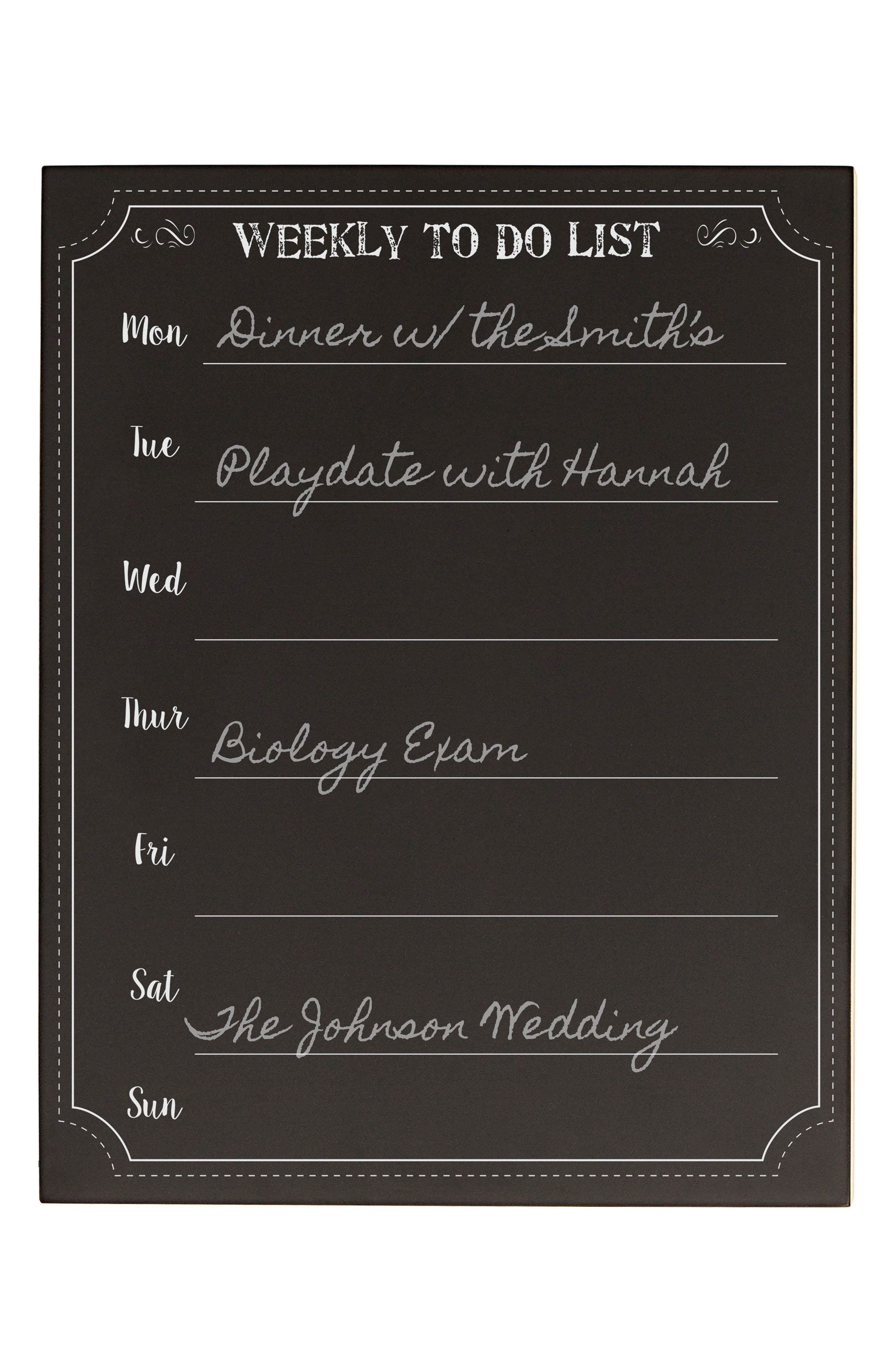 Cathy's Concept's Weekly Organizer Chalkboard,                             Alternate thumbnail 6, color,                             001