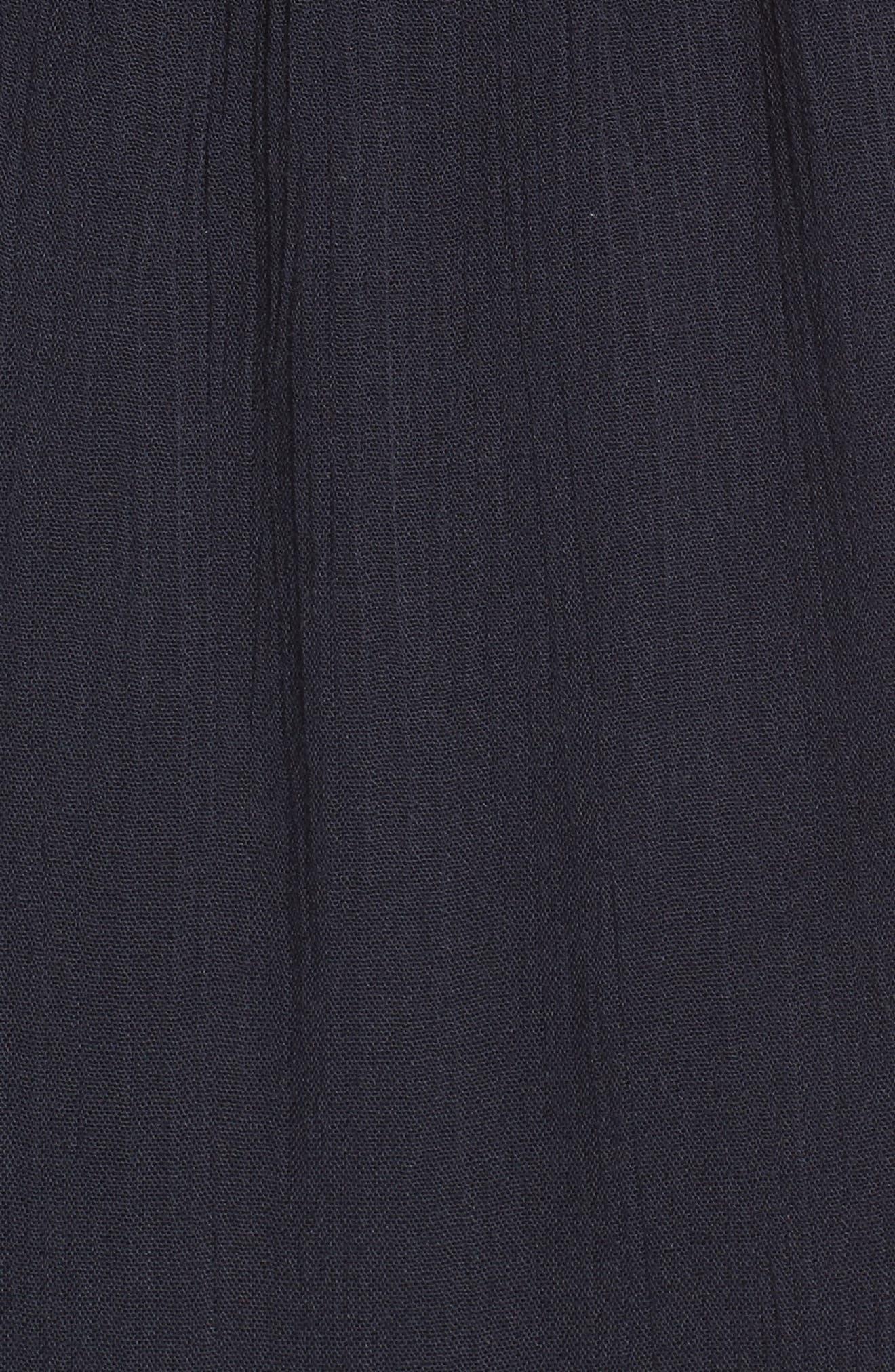 Ladder Trim Midi Dress,                             Alternate thumbnail 5, color,                             410