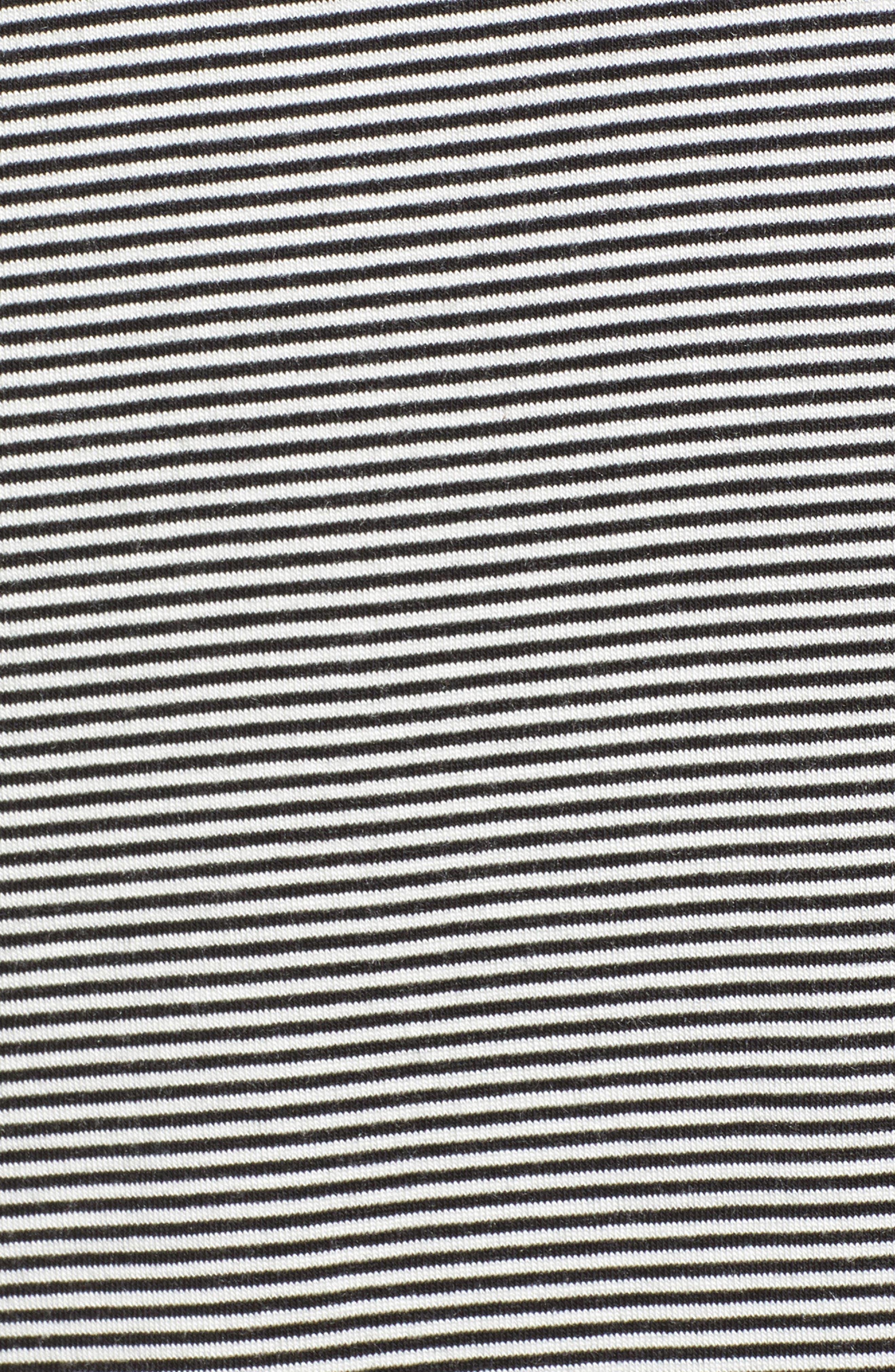 Just Like Honey Stripe Turtleneck,                             Alternate thumbnail 5, color,                             BLACK/ WHITE