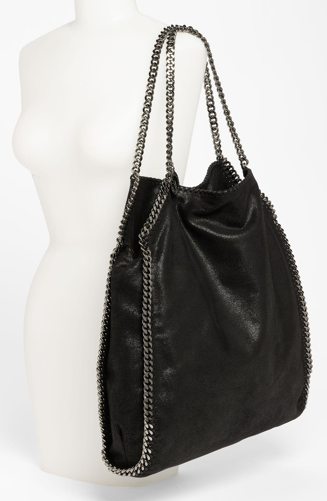 STELLA MCCARTNEY,                             'Large Falabella - Shaggy Deer' Faux Leather Tote,                             Alternate thumbnail 2, color,                             001