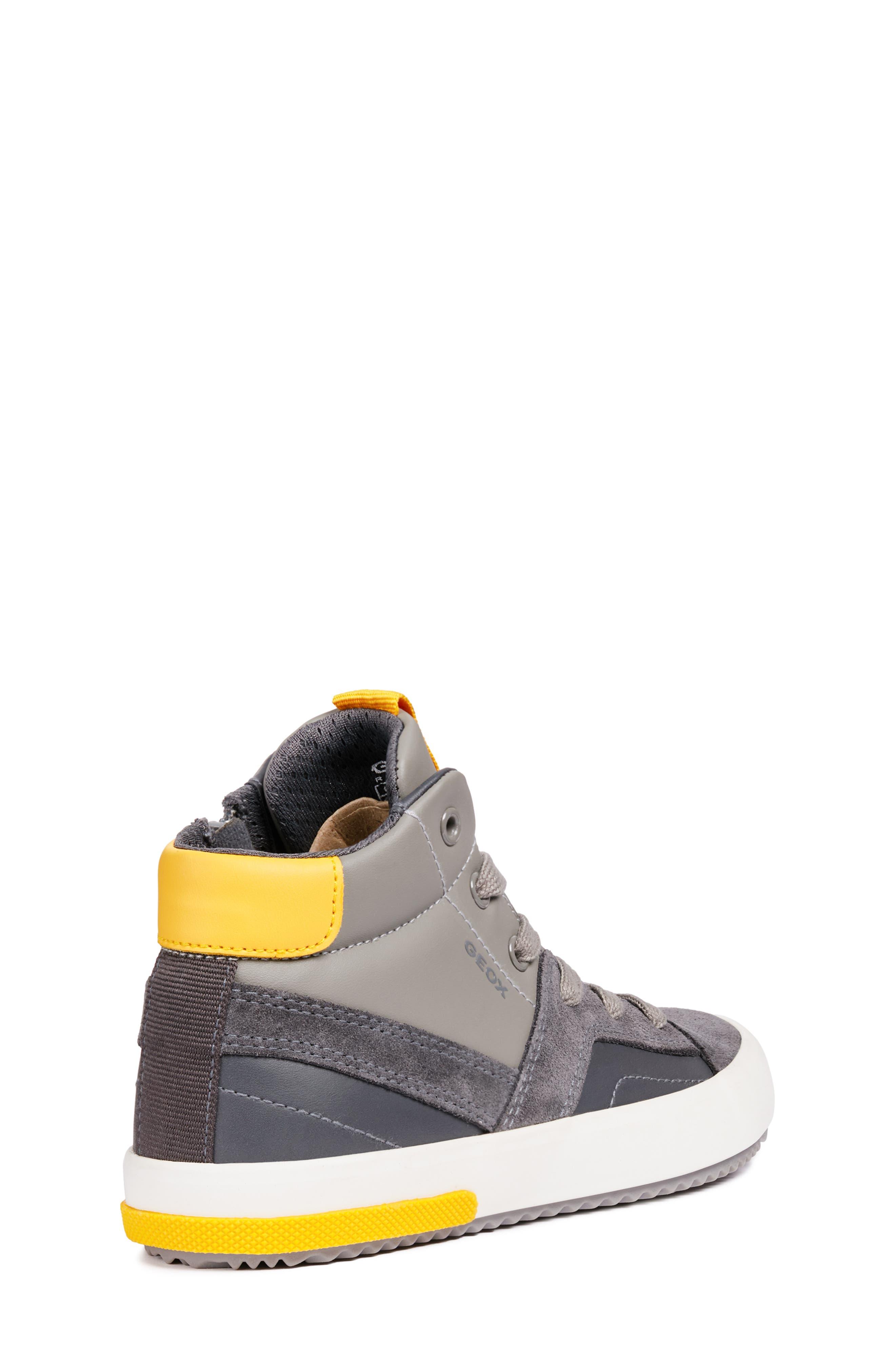 Alonisso 24 High Top Sneaker,                             Alternate thumbnail 6, color,                             DARK GREY/YELLOW