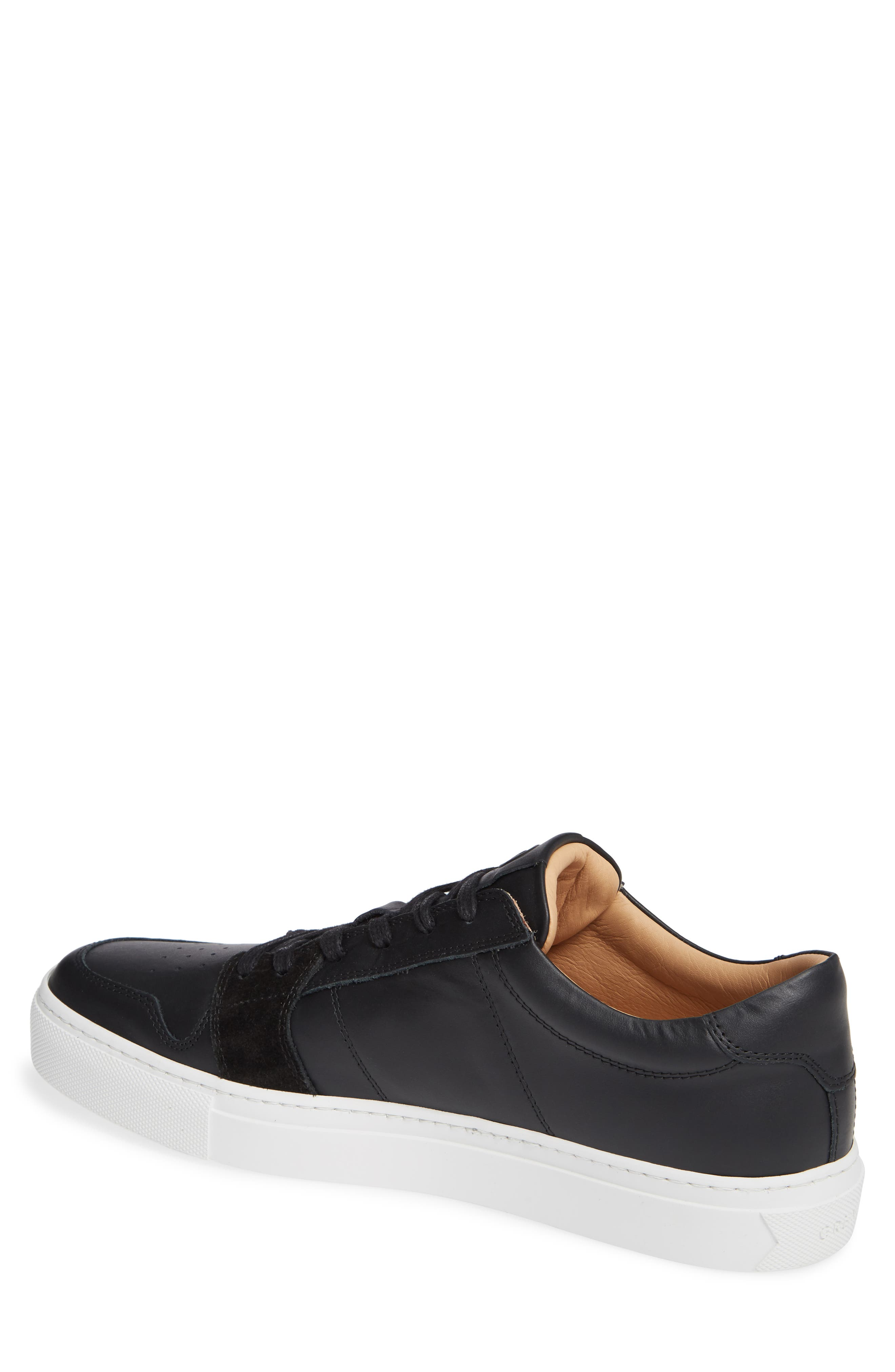 Nick Wooster x GREATS Court Low Top Sneaker,                             Alternate thumbnail 2, color,                             BLACK
