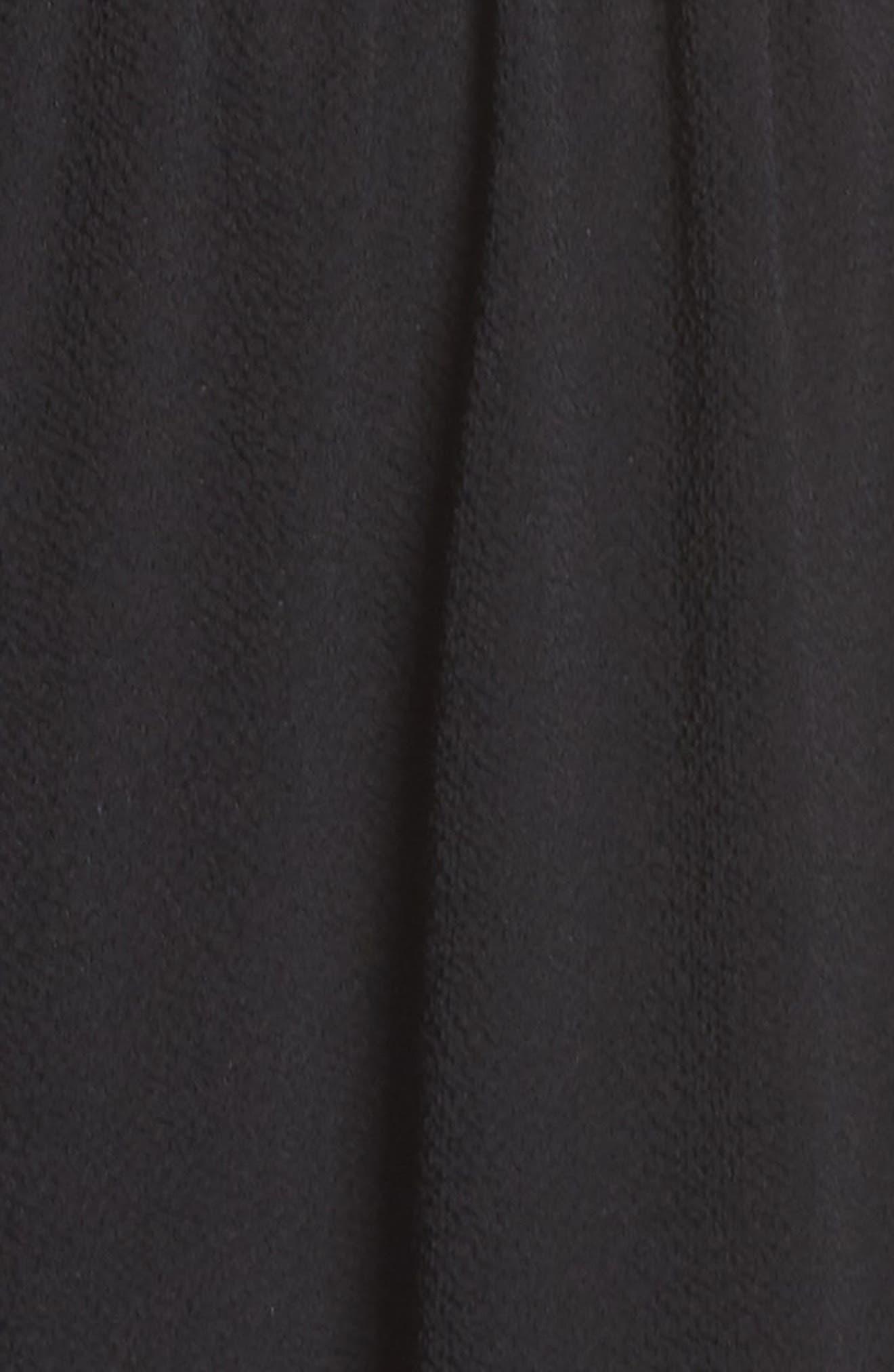 Ruffle Jumpsuit,                             Alternate thumbnail 6, color,                             BLACK