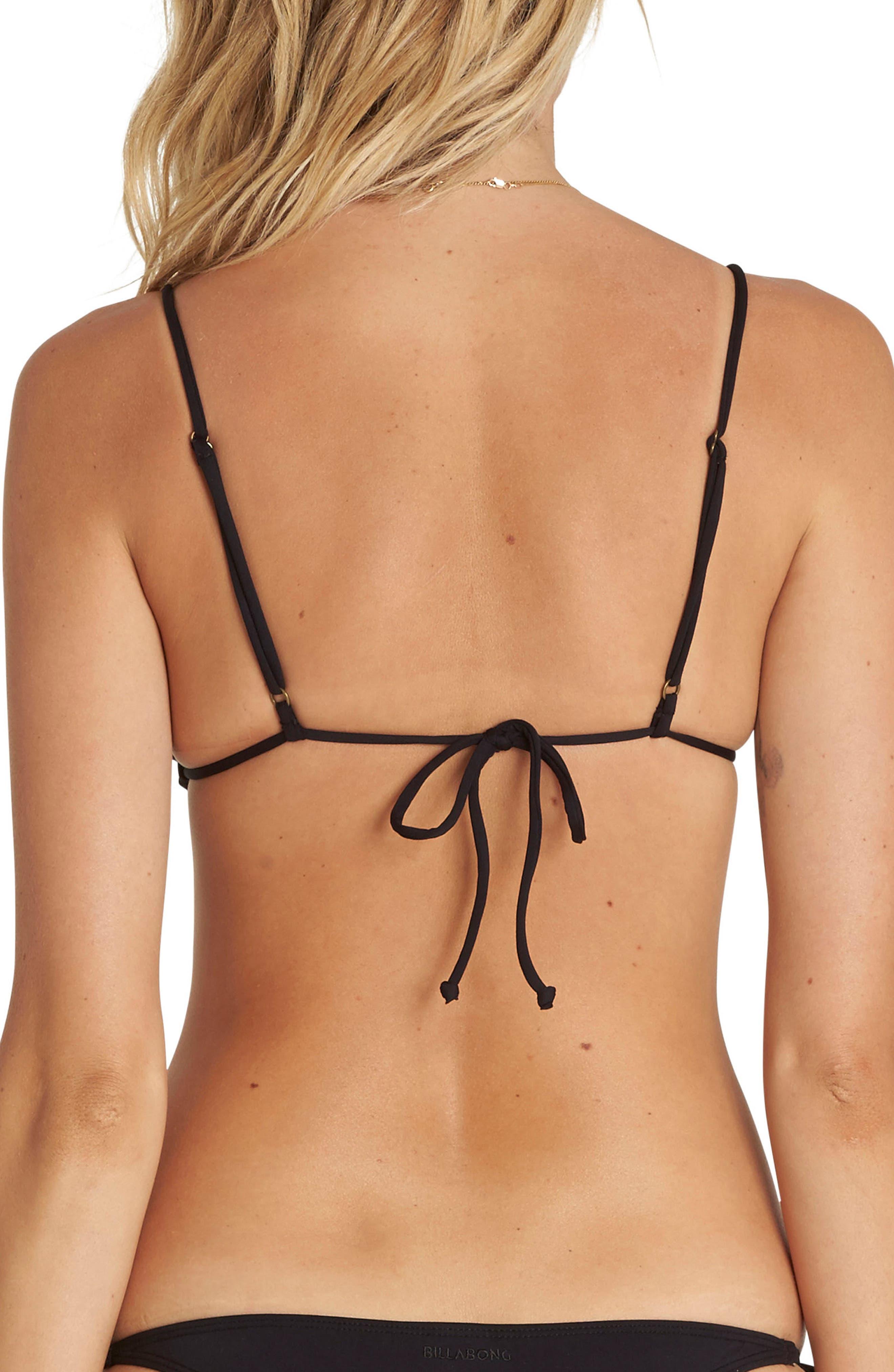Sol Searcher Tiny Tri Bikini Top,                             Alternate thumbnail 3, color,