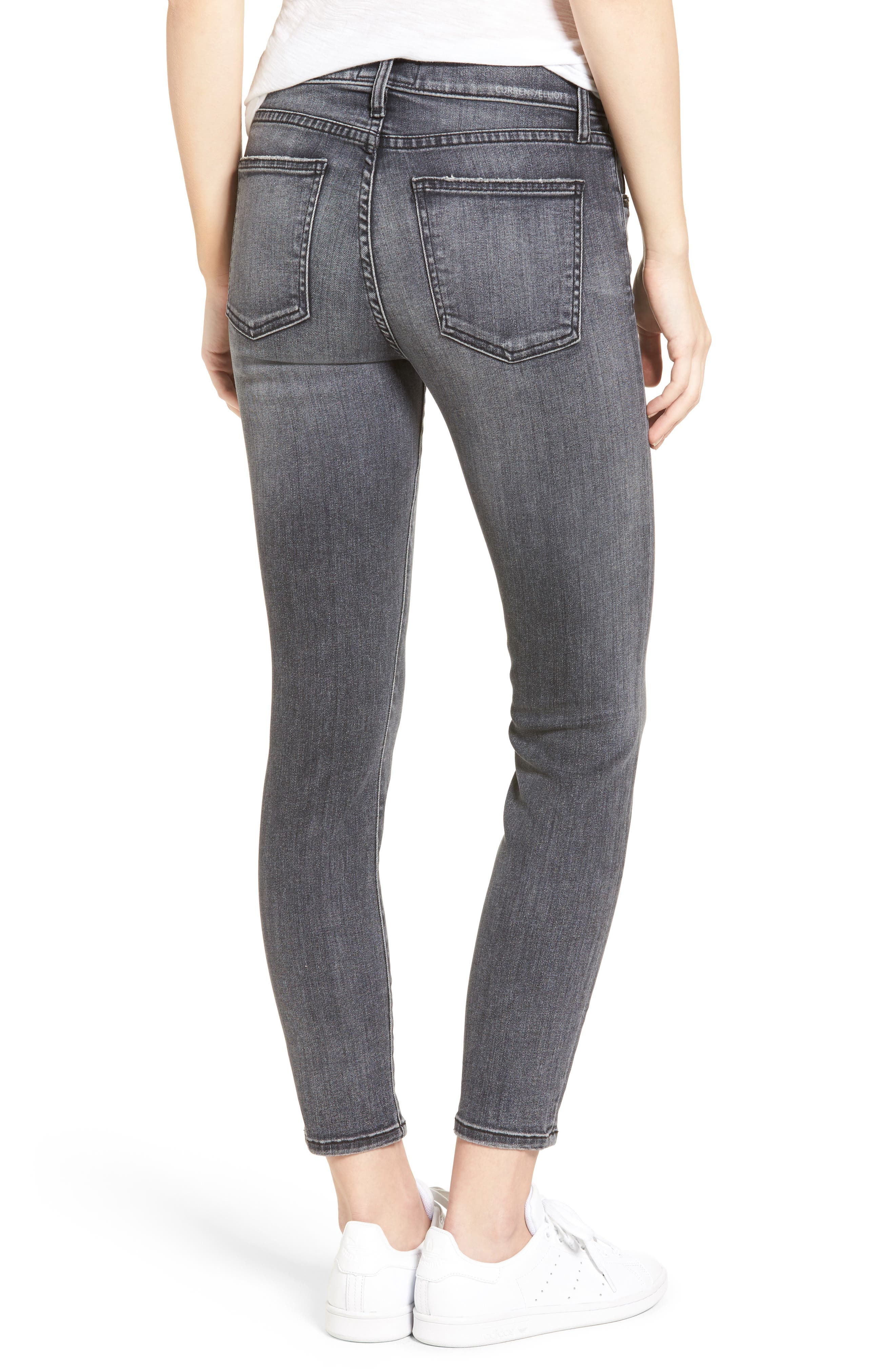 The High Waist Stiletto Ankle Skinny Jeans,                         Main,                         color, 493
