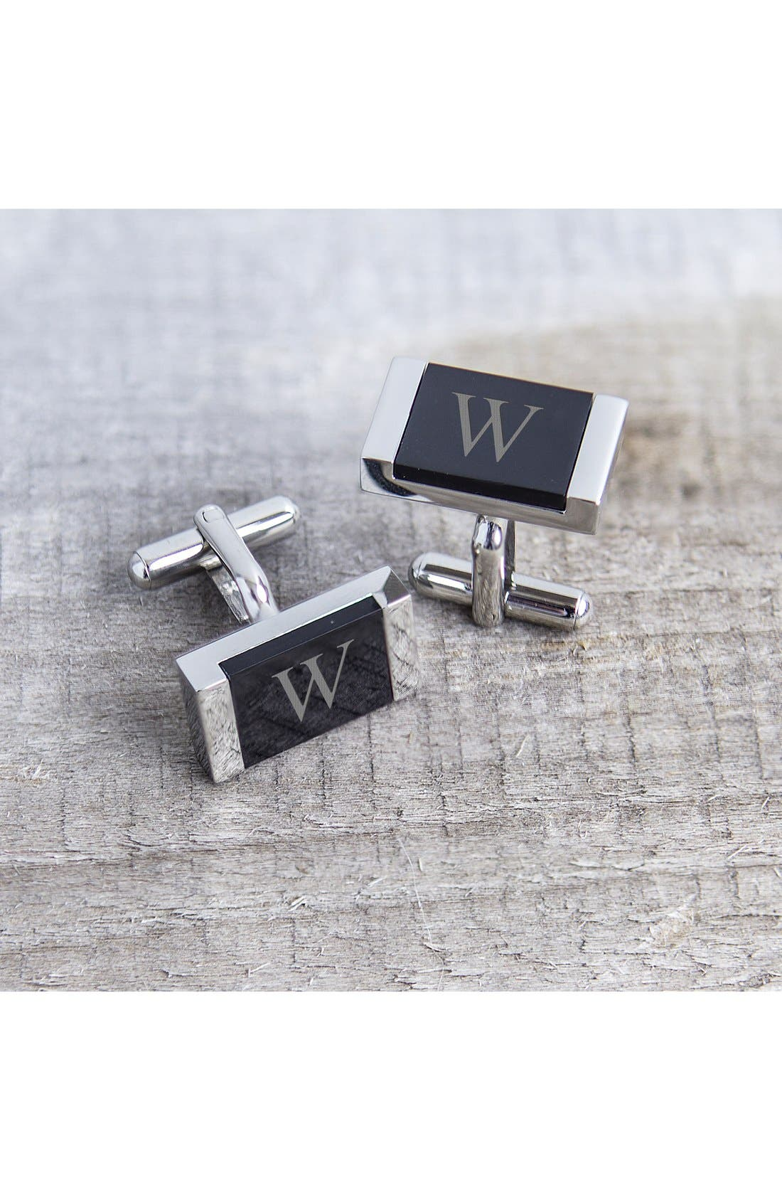 Monogram Cuff Links,                             Alternate thumbnail 2, color,                             066