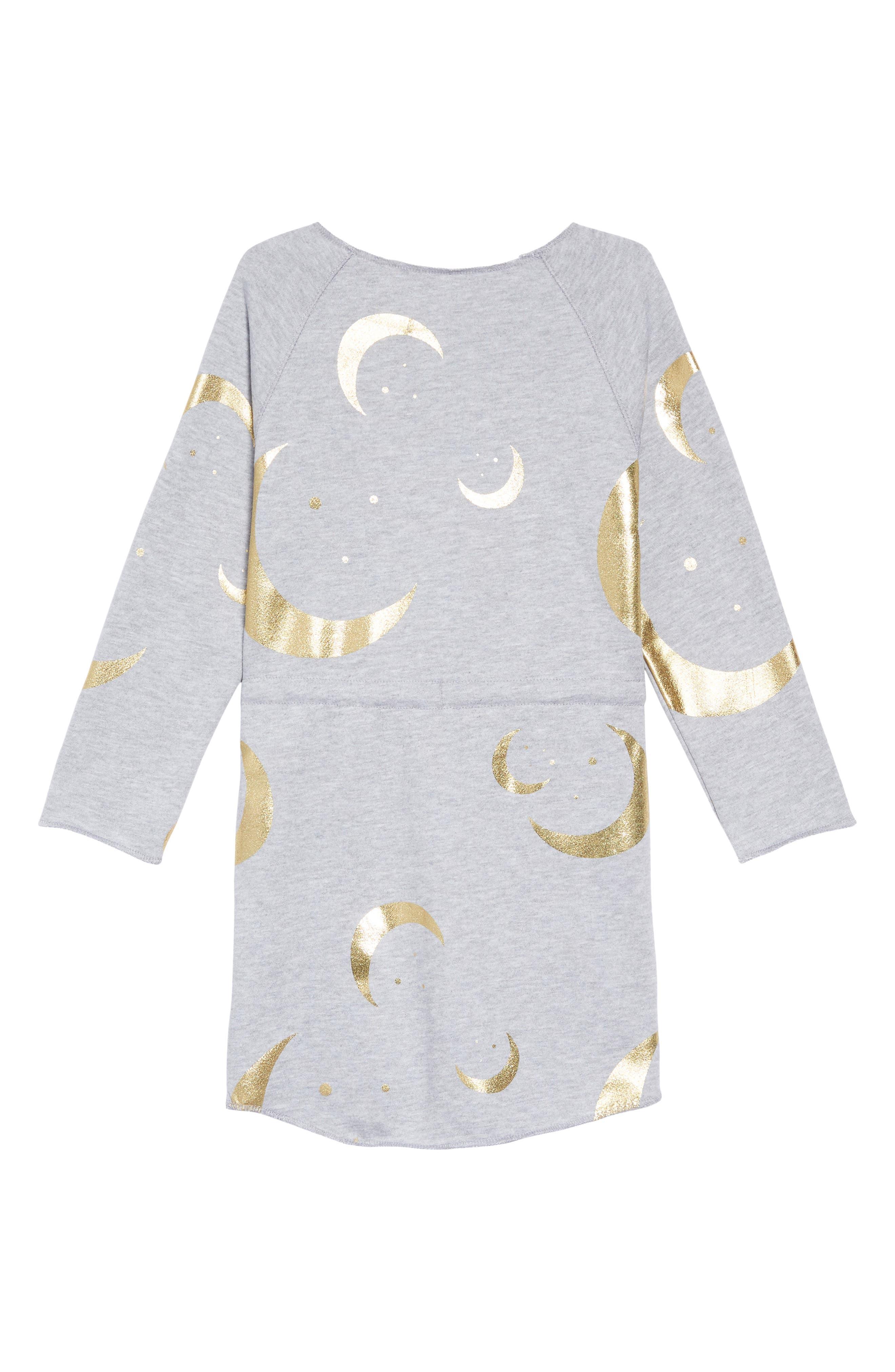 Danica Print Sweatshirt Dress,                             Alternate thumbnail 2, color,                             HALF MOON/HEATHER GREY