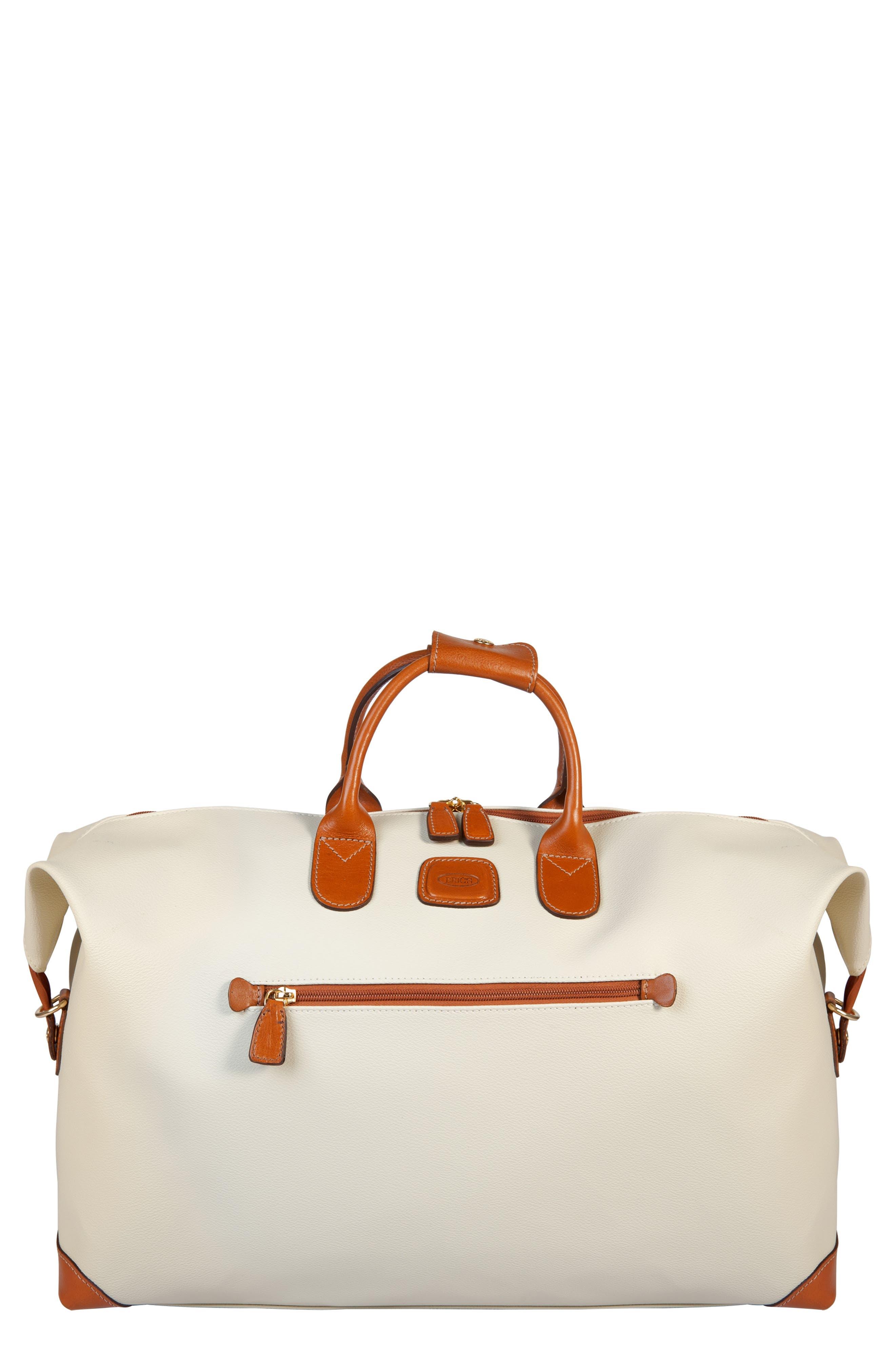 Firenze 22-Inch Cargo Duffel Bag - Beige in Cream