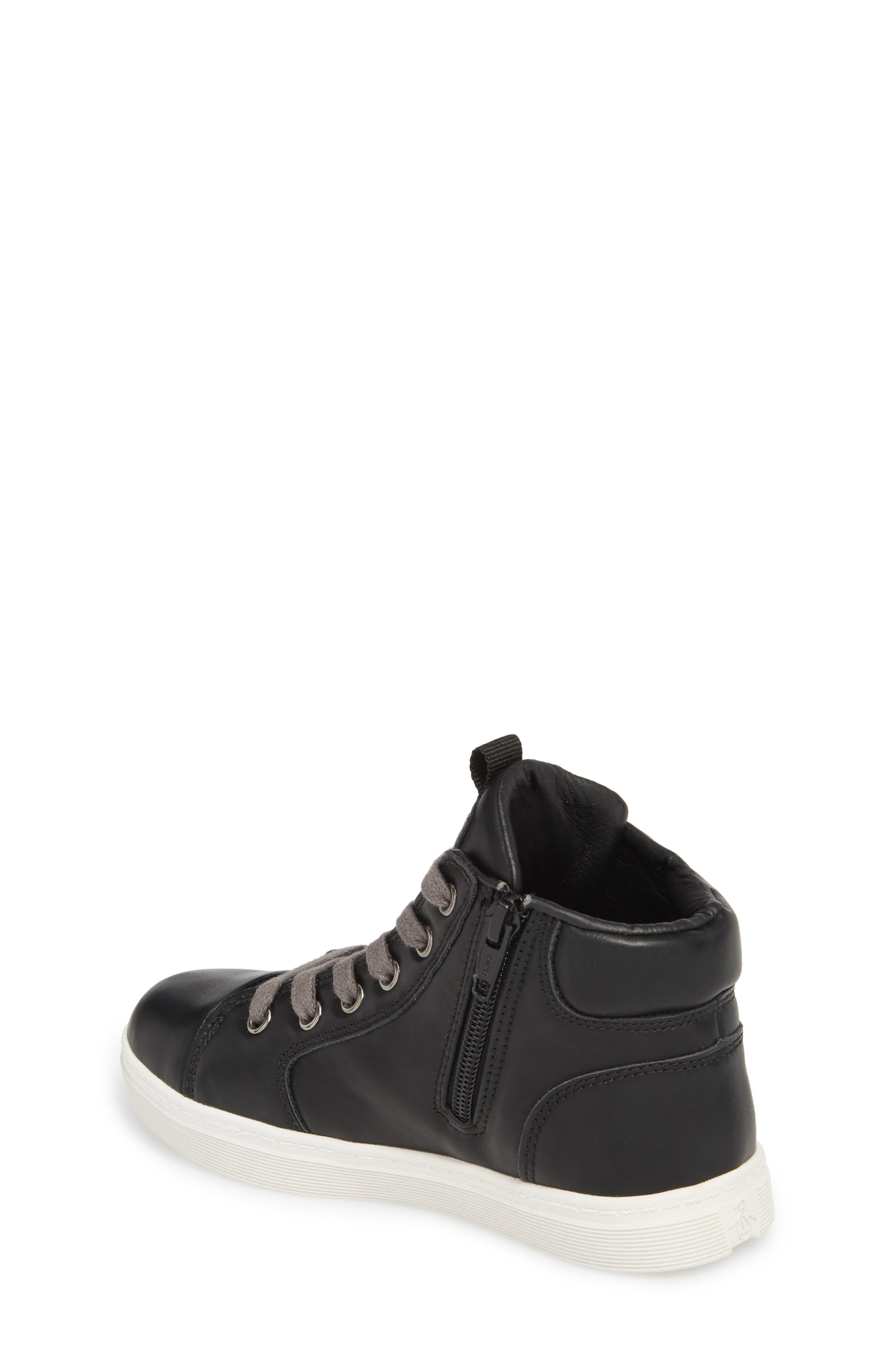 Carson High Top Sneaker,                             Alternate thumbnail 2, color,                             BLACK