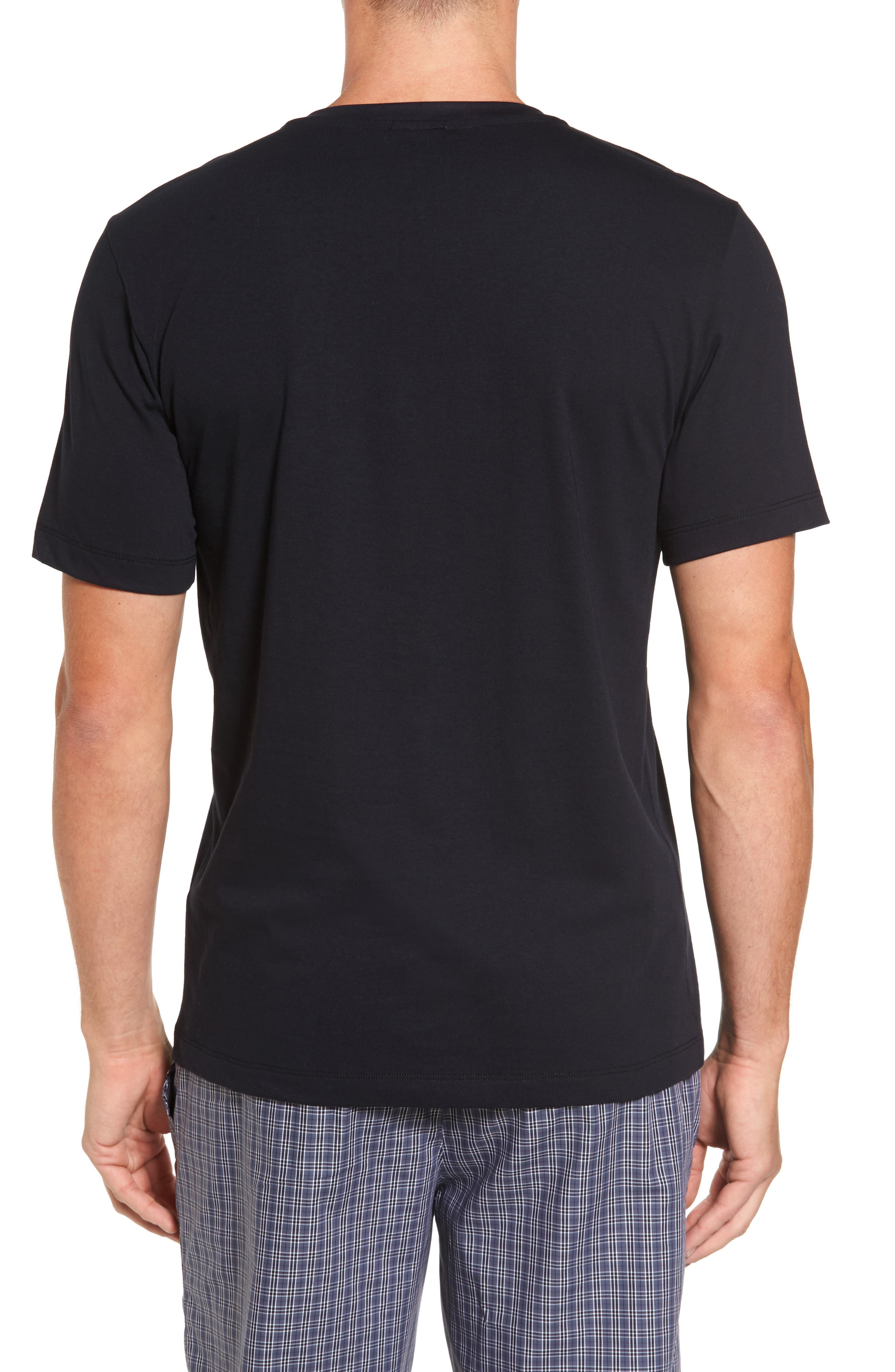 Living V-Neck T-Shirt,                             Alternate thumbnail 2, color,                             BLACK