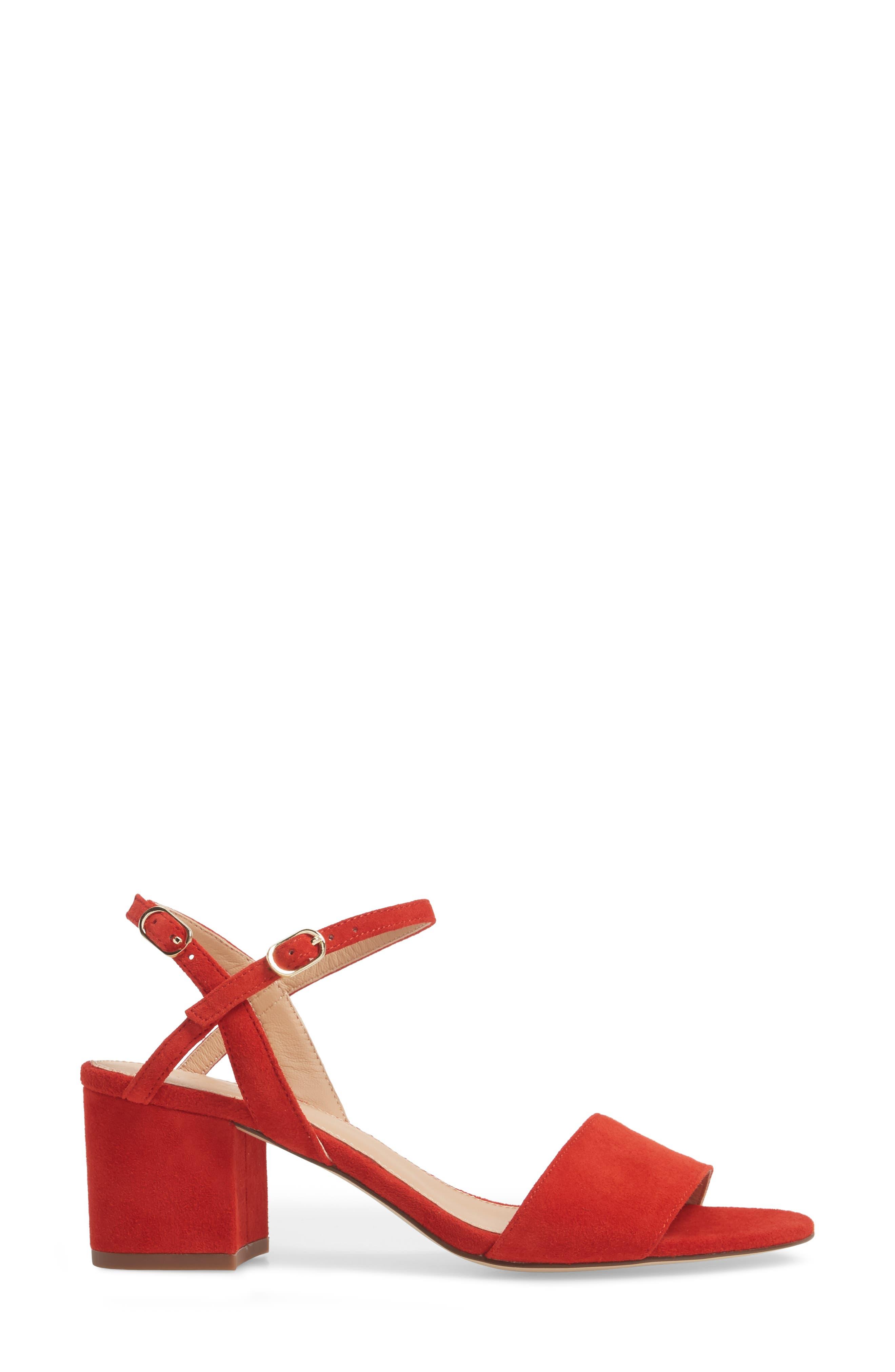 Strappy Block Heel Sandal,                             Alternate thumbnail 9, color,