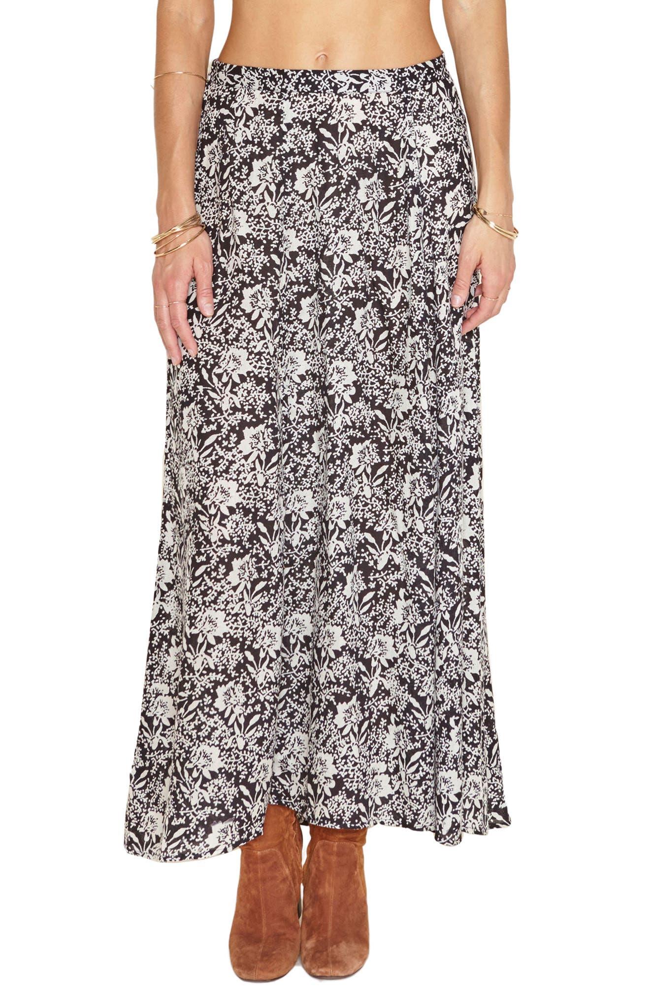 Shiva Maxi Skirt,                             Main thumbnail 1, color,                             001