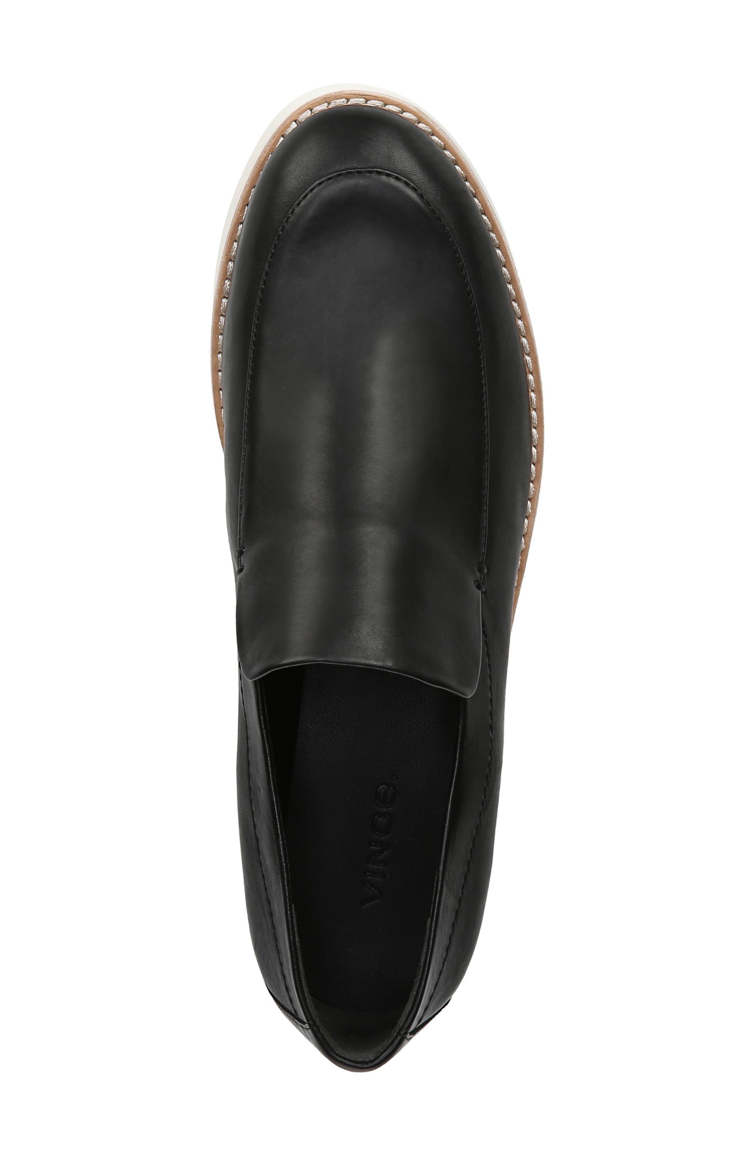 Zeta Platform Loafer,                             Alternate thumbnail 5, color,                             BLACK FOULARD LEATHER