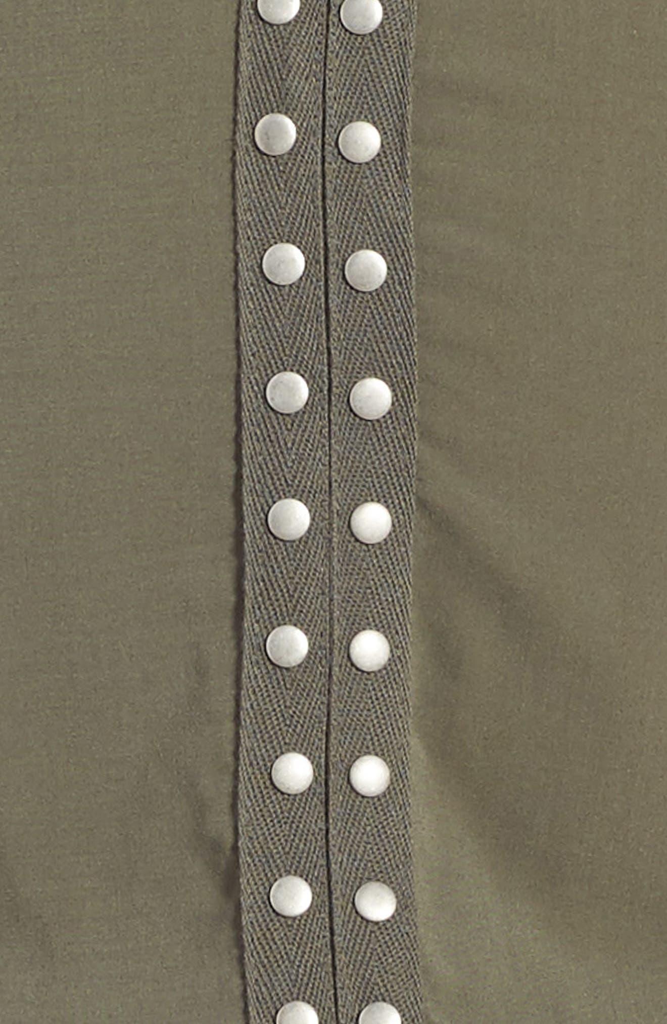 Grommet Cold Shoulder Dress,                             Alternate thumbnail 6, color,