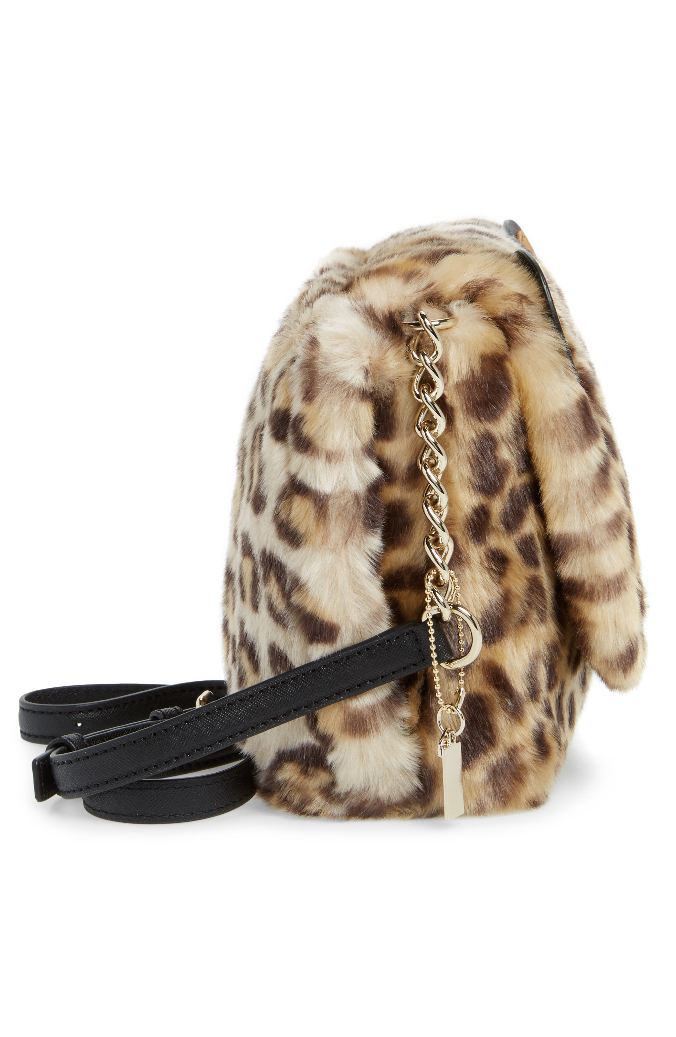 run wild faux fur shoulder bag/muff,                             Alternate thumbnail 5, color,                             200