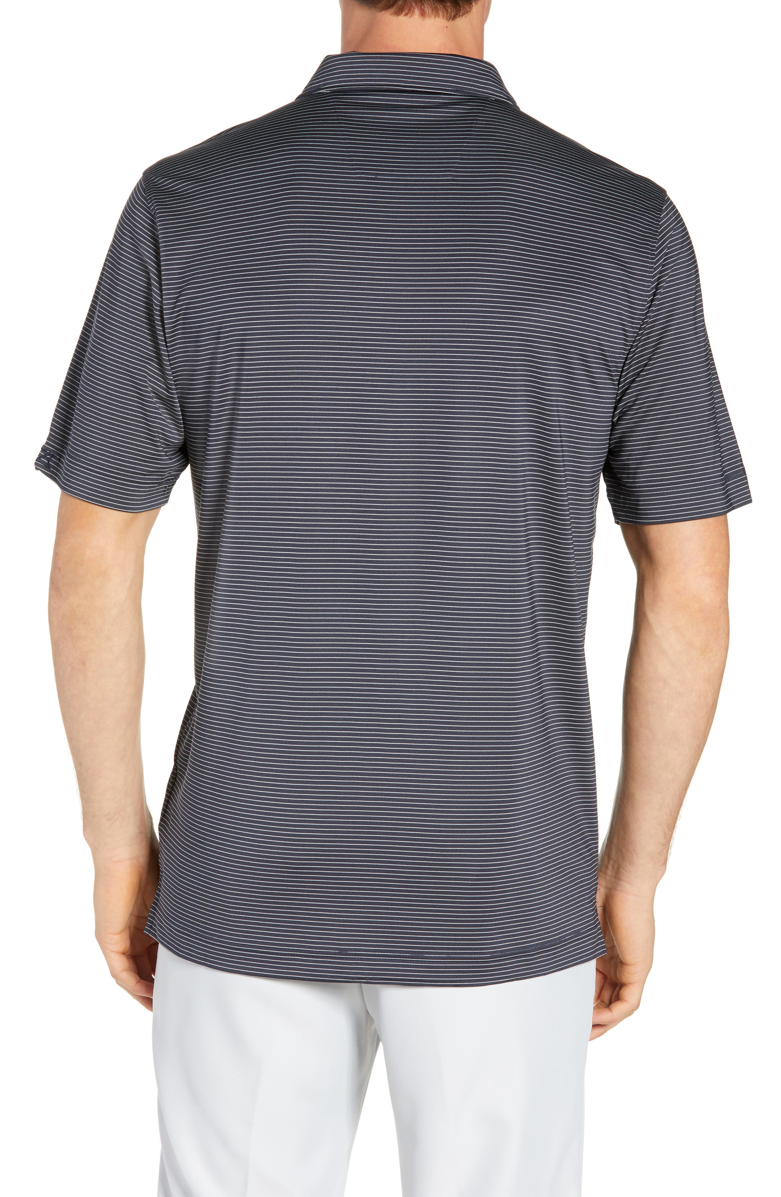 CUTTER & BUCK,                             Prevail Regular Fit Stripe Polo,                             Alternate thumbnail 2, color,                             LIBERTY NAVY