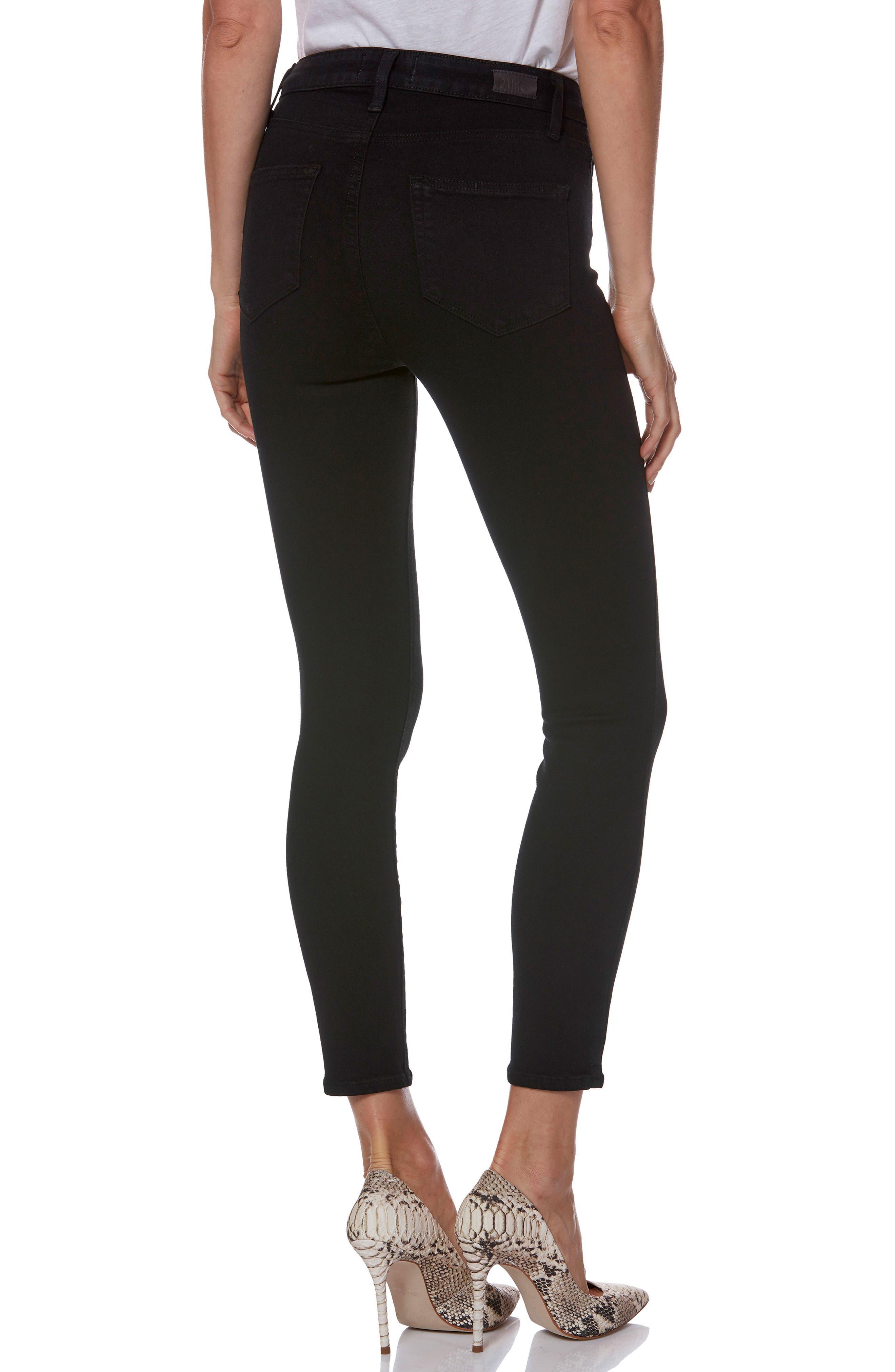Transcend - Margot High Waist Crop Ultra Skinny Jeans,                             Alternate thumbnail 3, color,                             001