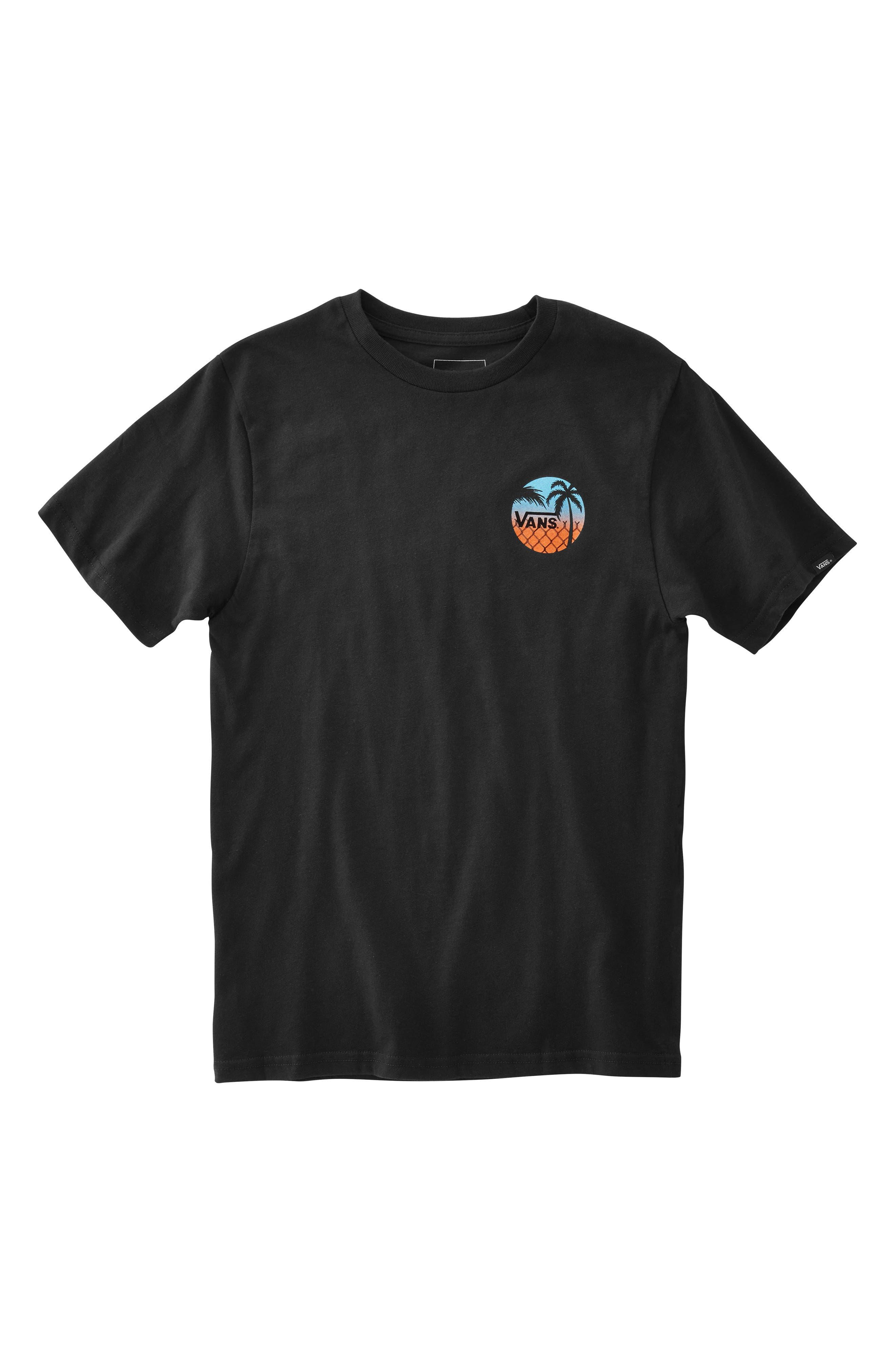 Chain Link Palm T-Shirt,                         Main,                         color, BLACK