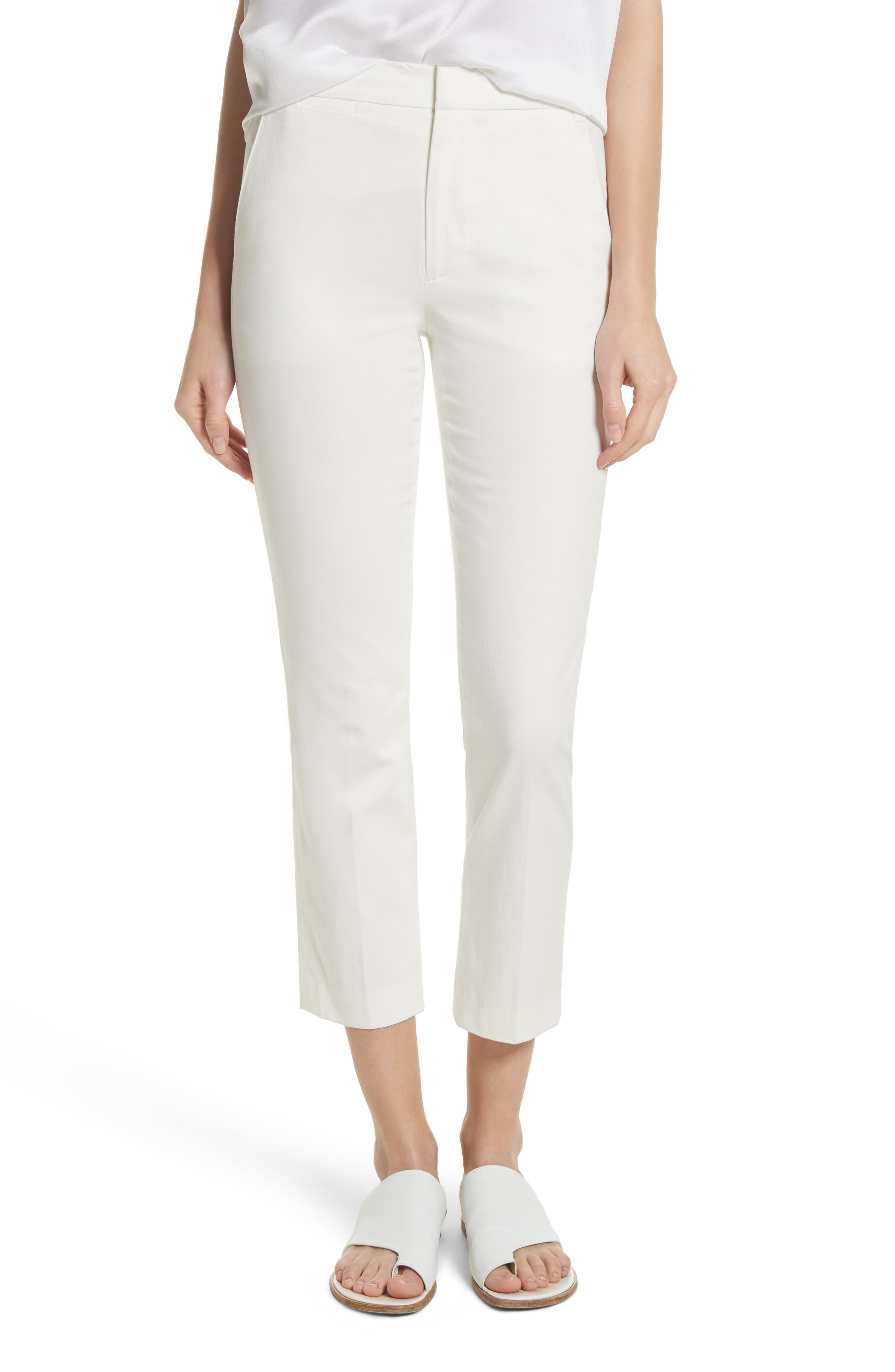 Crop Chino Pants,                         Main,                         color, OFF WHITE