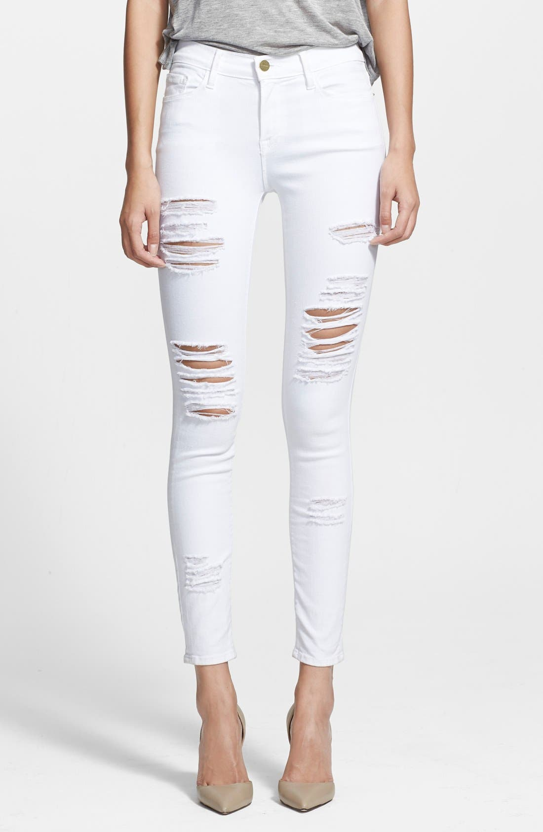 Le Color Rip Skinny Jeans,                         Main,                         color, 101