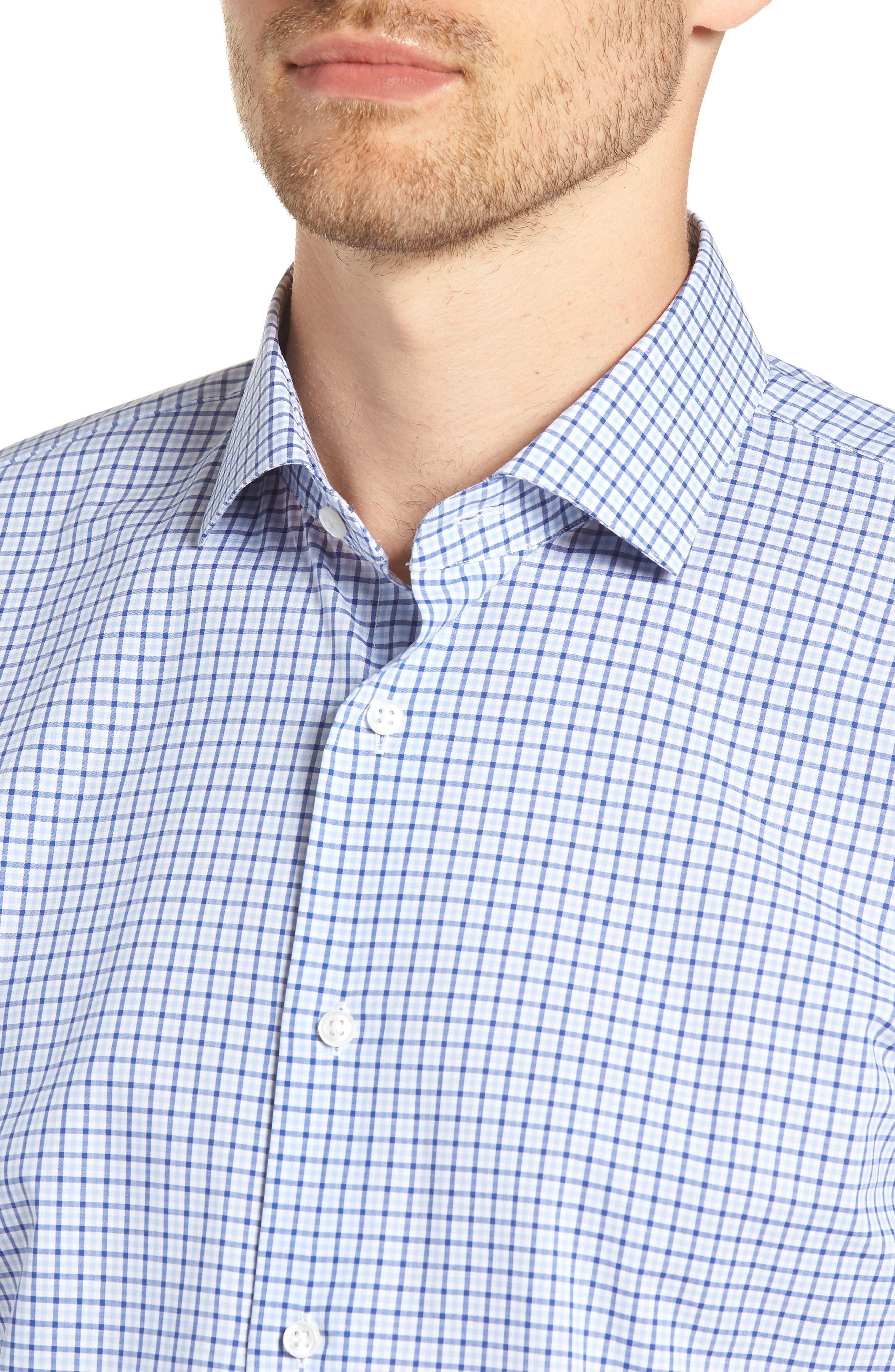 Trim Fit Check Dress Shirt,                             Alternate thumbnail 2, color,                             BLUE SODALITE