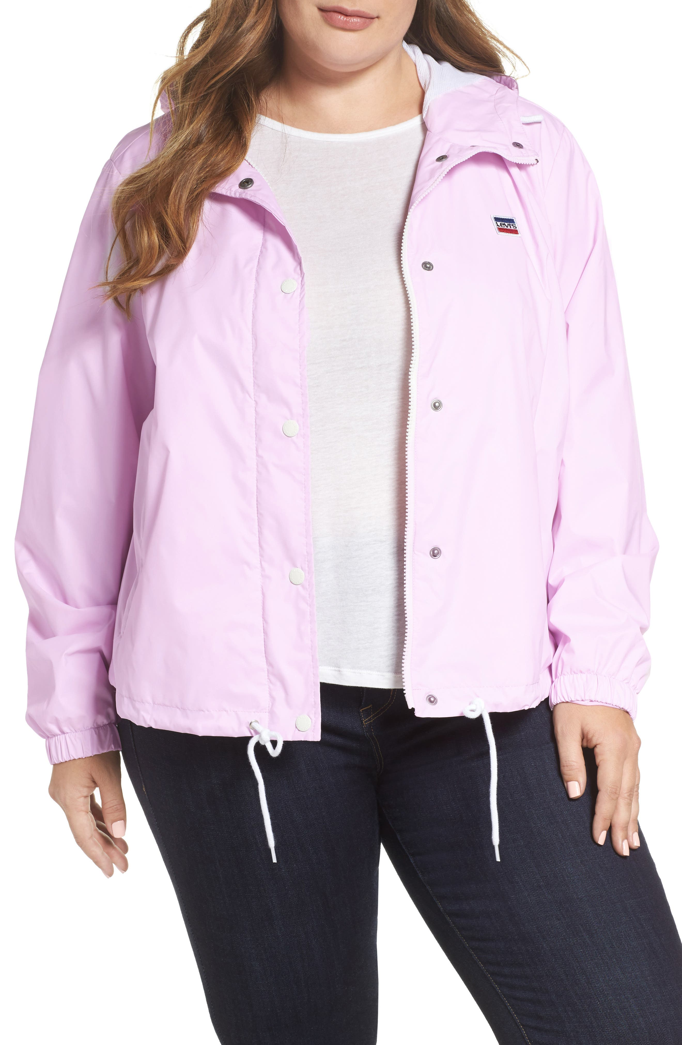 Retro Hooded Coach's Jacket,                             Main thumbnail 4, color,