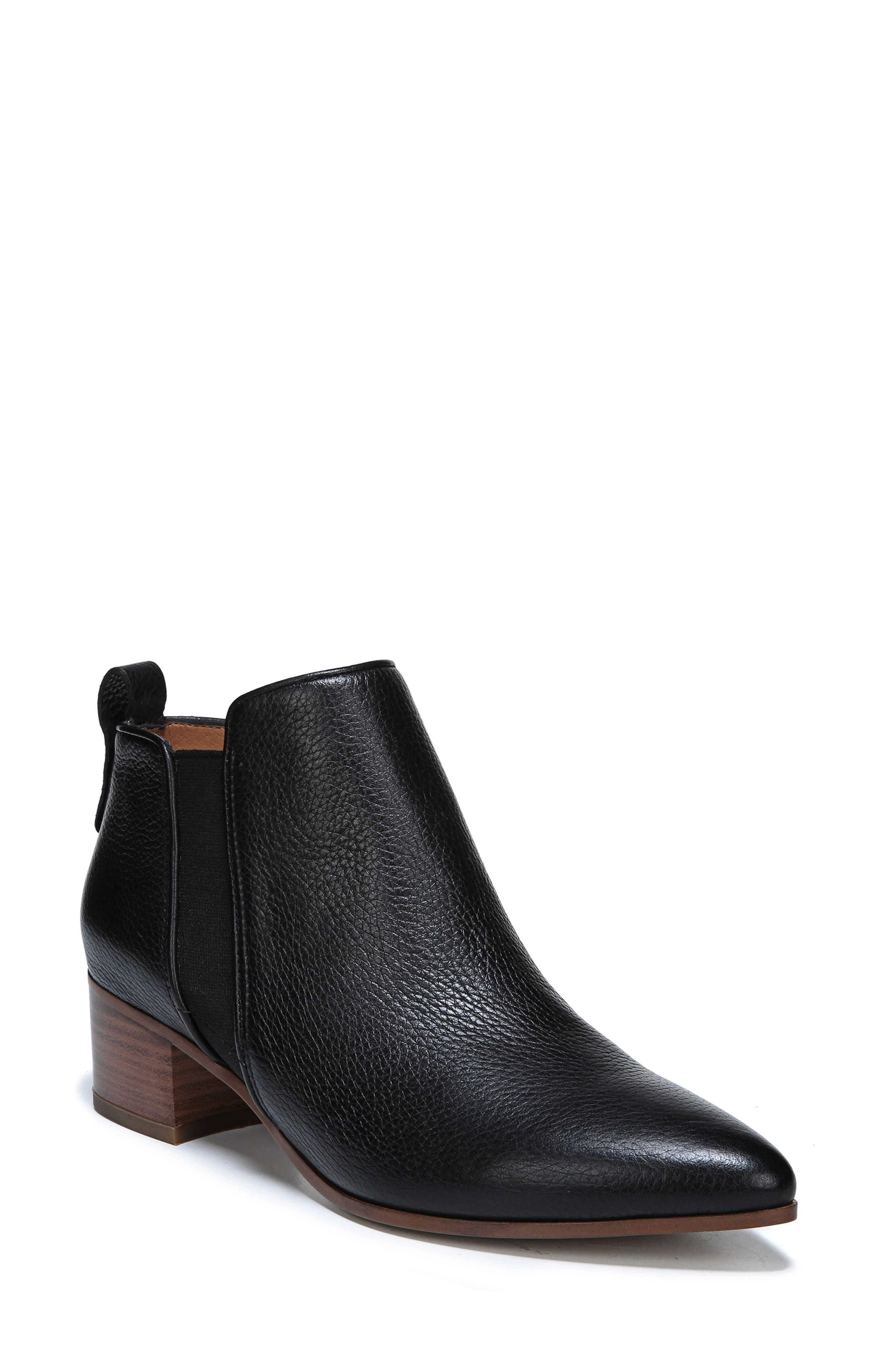 Jollie Bootie,                         Main,                         color, BLACK LEATHER