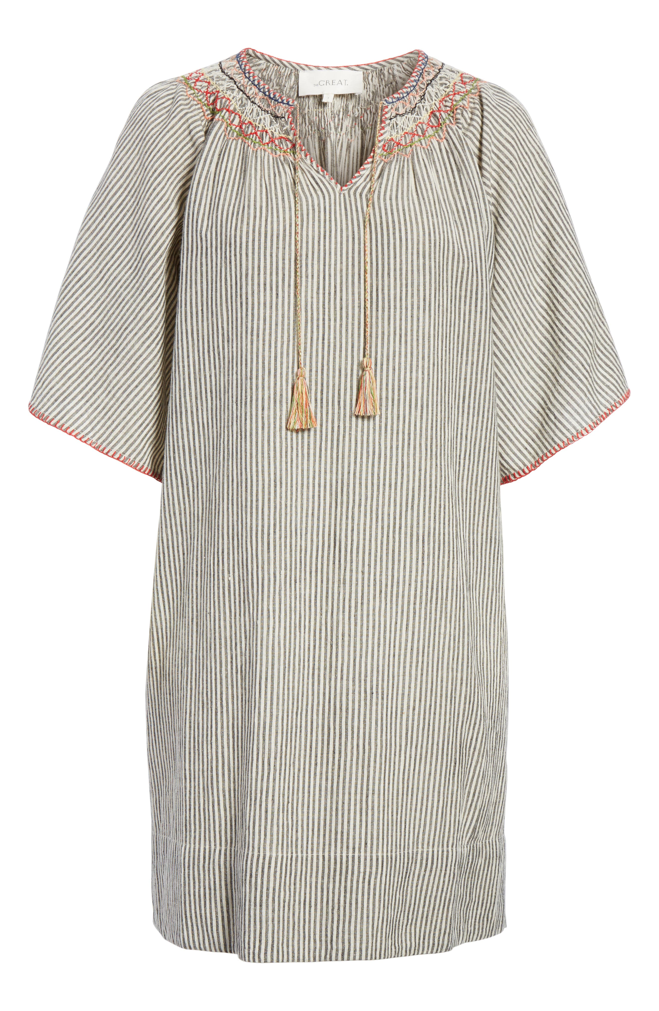 The Butterfly Smock Dress,                             Alternate thumbnail 6, color,                             400