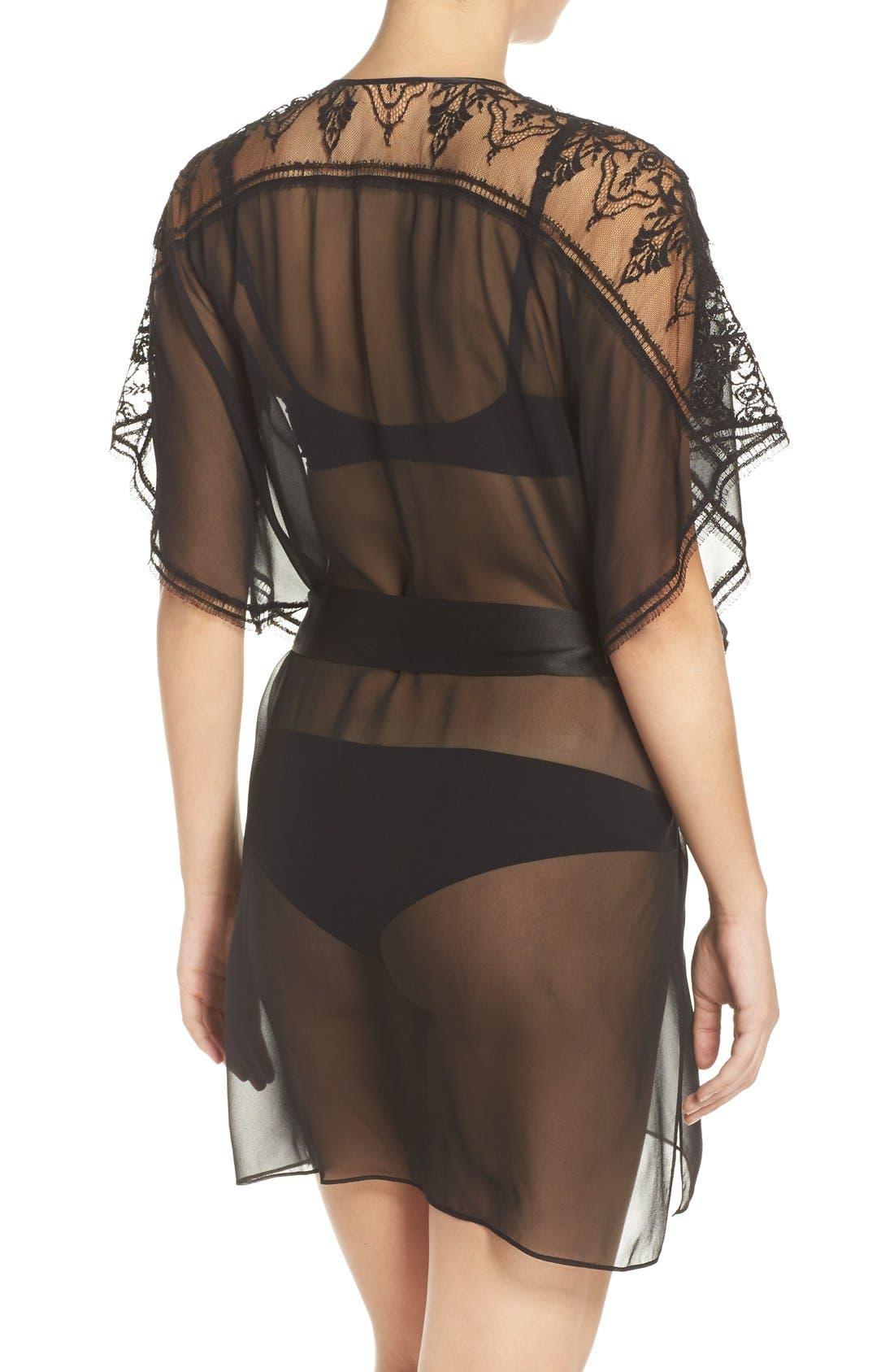 Silk Chiffon Robe,                             Alternate thumbnail 5, color,                             001