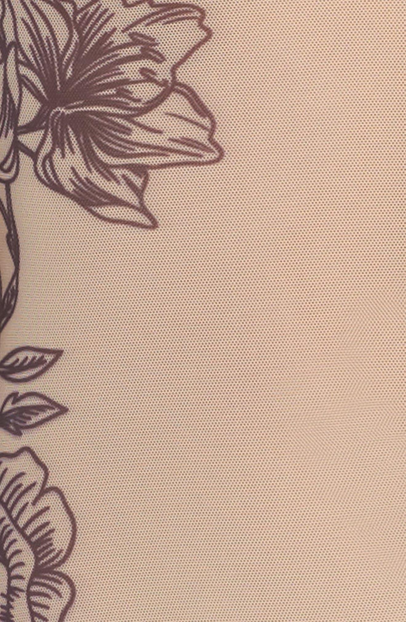 Stephanie Sparrow Mesh Bodysuit,                             Alternate thumbnail 4, color,