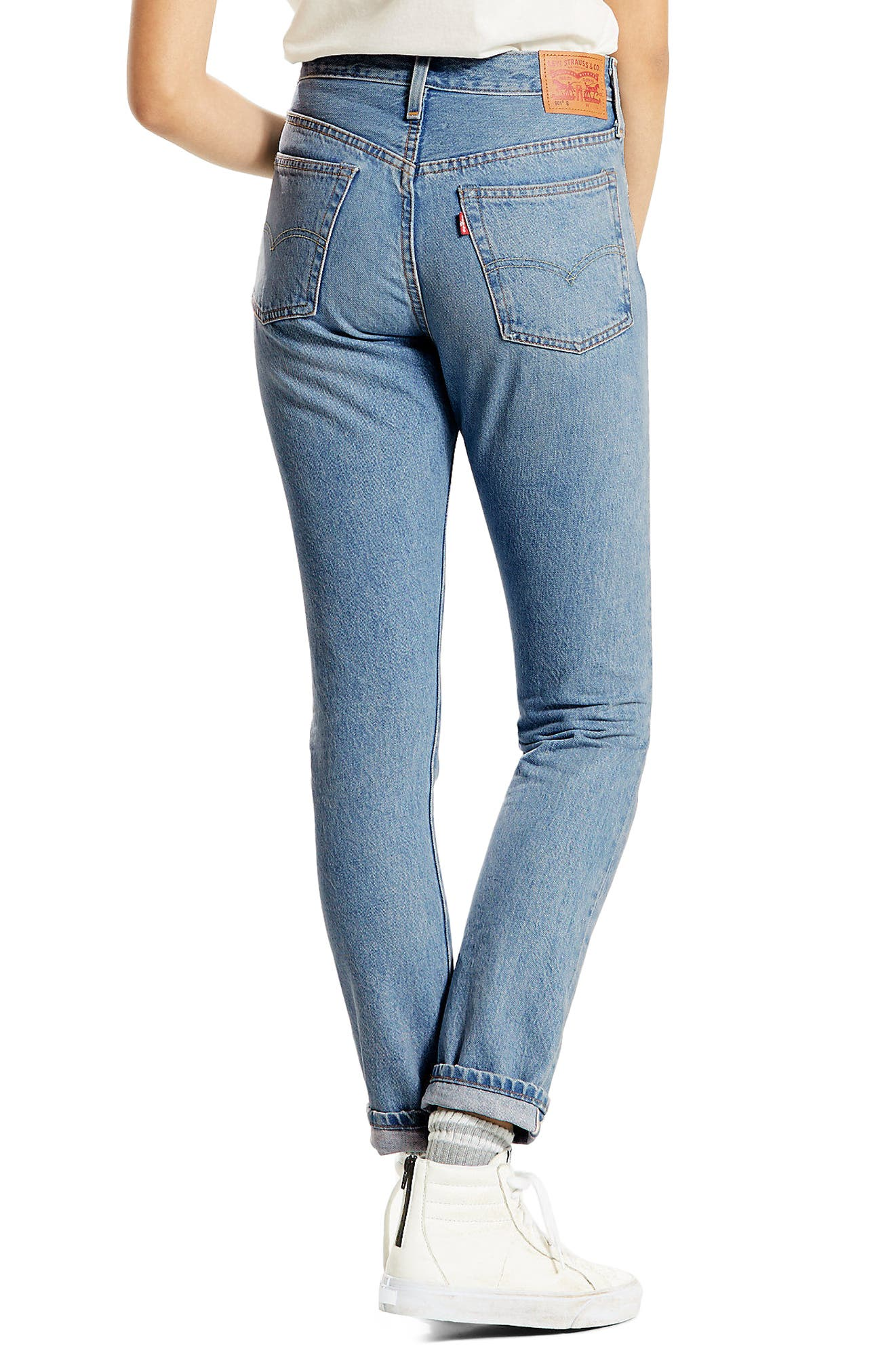501 High Waist Skinny Jeans,                             Alternate thumbnail 2, color,                             420