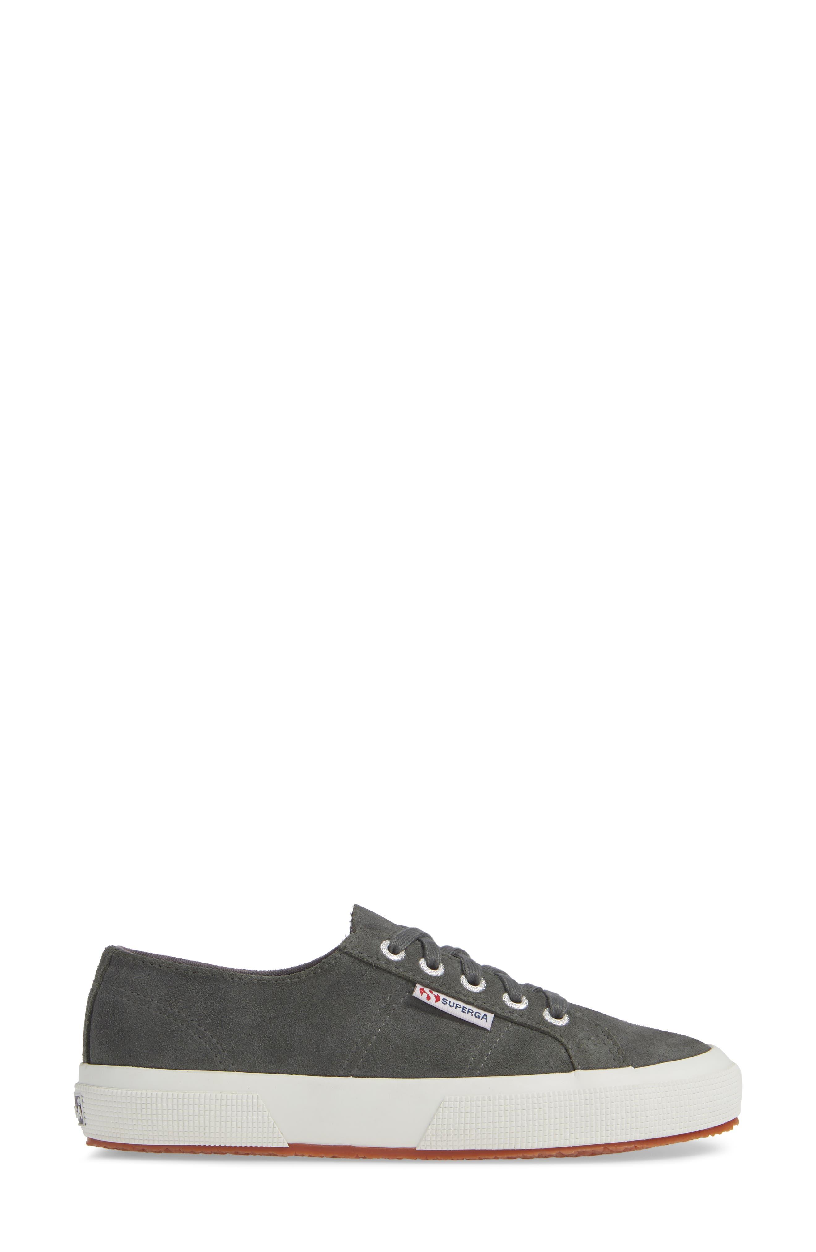 2750 Suecotw Low Top Sneaker,                             Alternate thumbnail 3, color,                             DARK GREY SUEDE