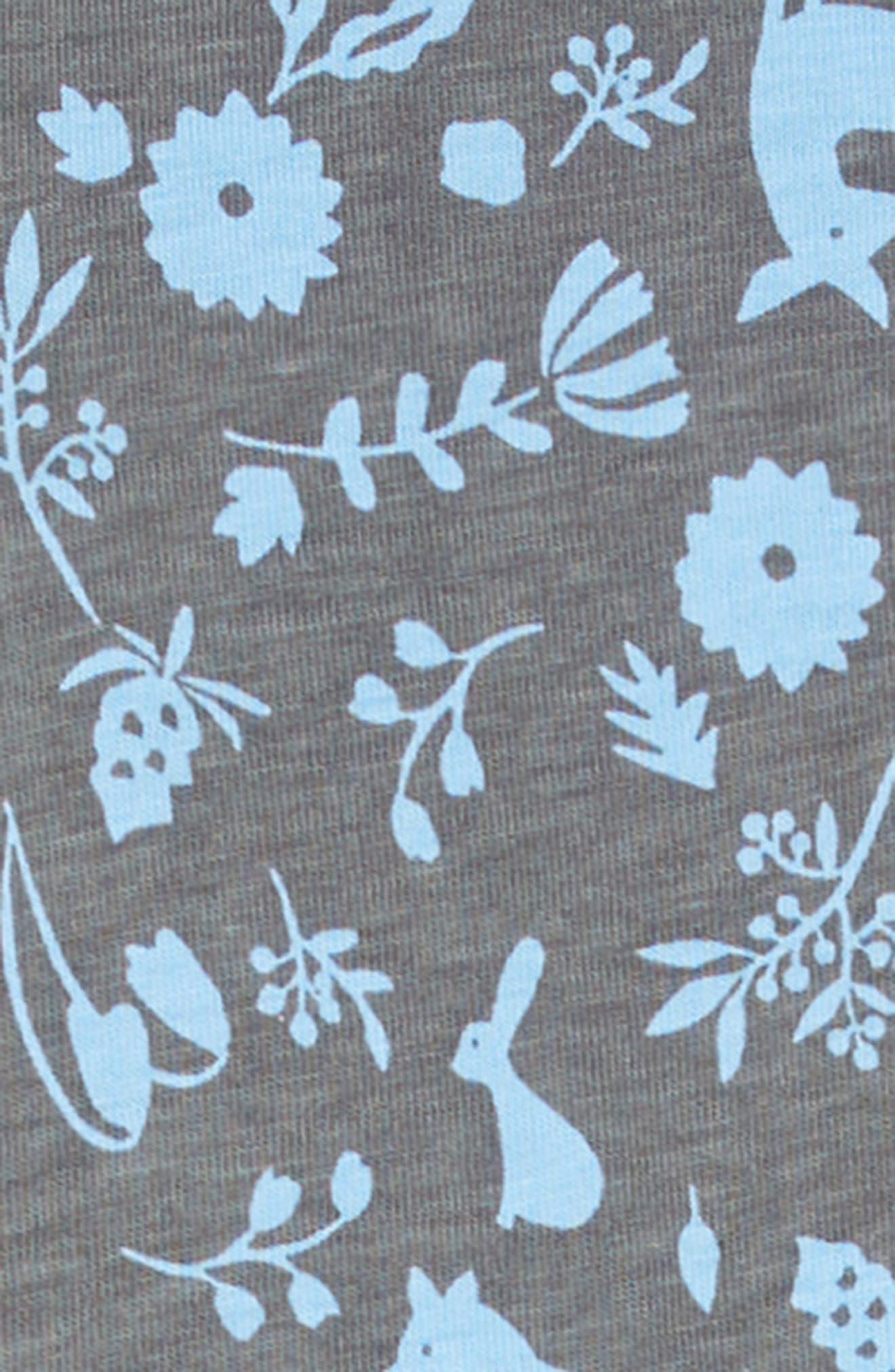 Sparkle Henley Dress,                             Alternate thumbnail 3, color,                             DESERT FLORA AND FAUNA