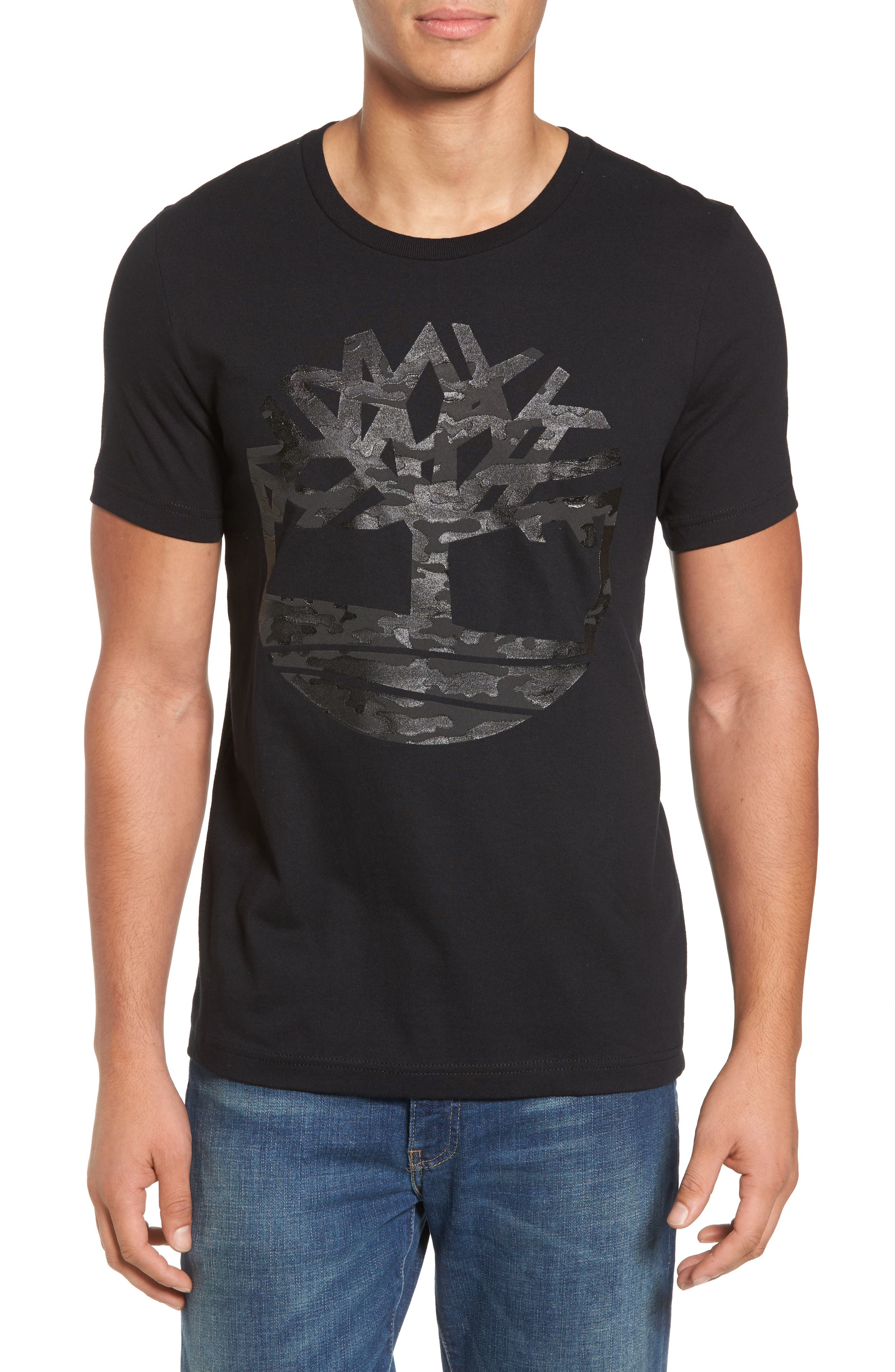 Textured Camo Graphic T-Shirt,                         Main,                         color, 001