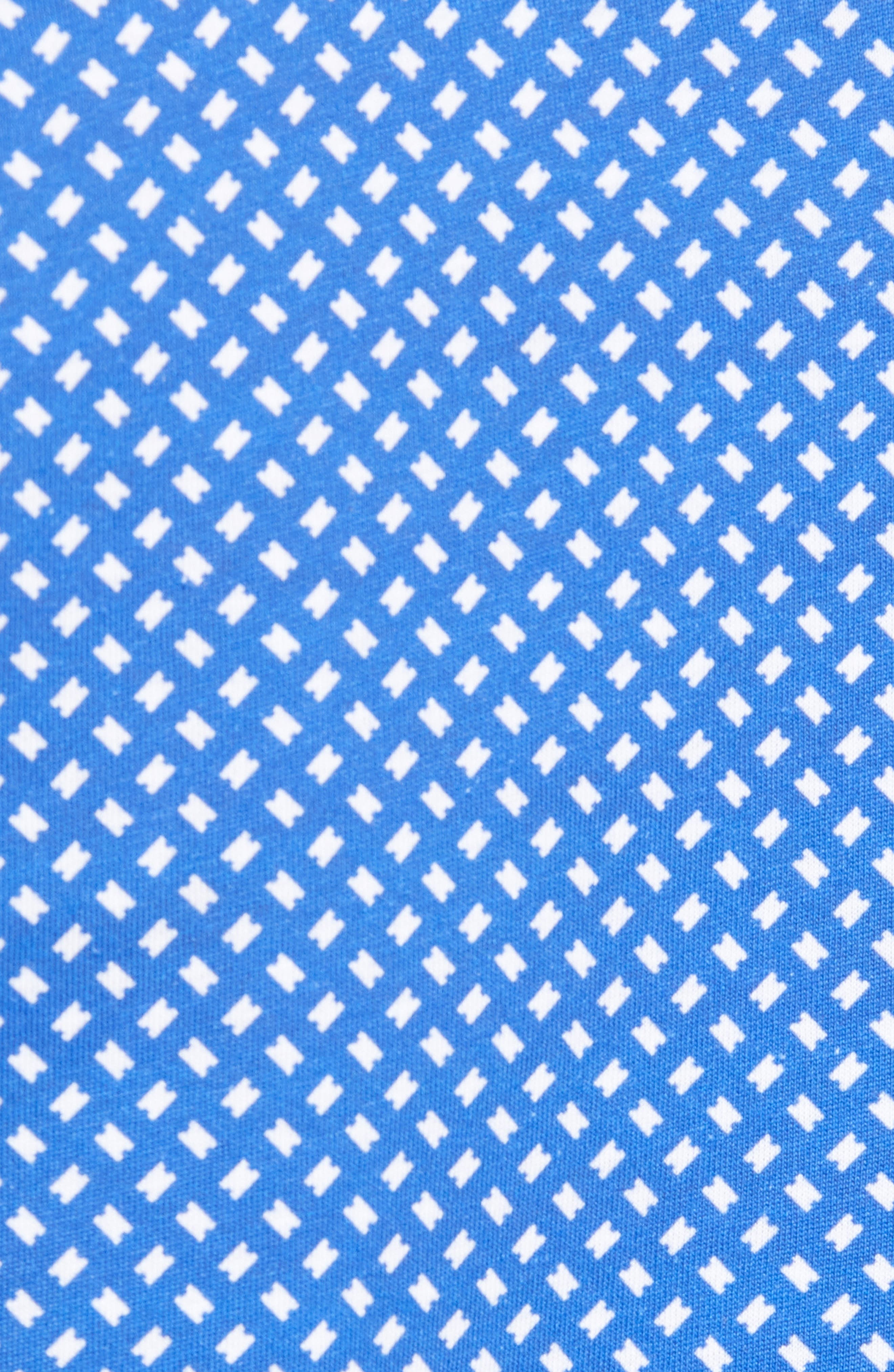 Pickal Trim Fit Print Polo,                             Alternate thumbnail 5, color,                             BRIGHT BLUE