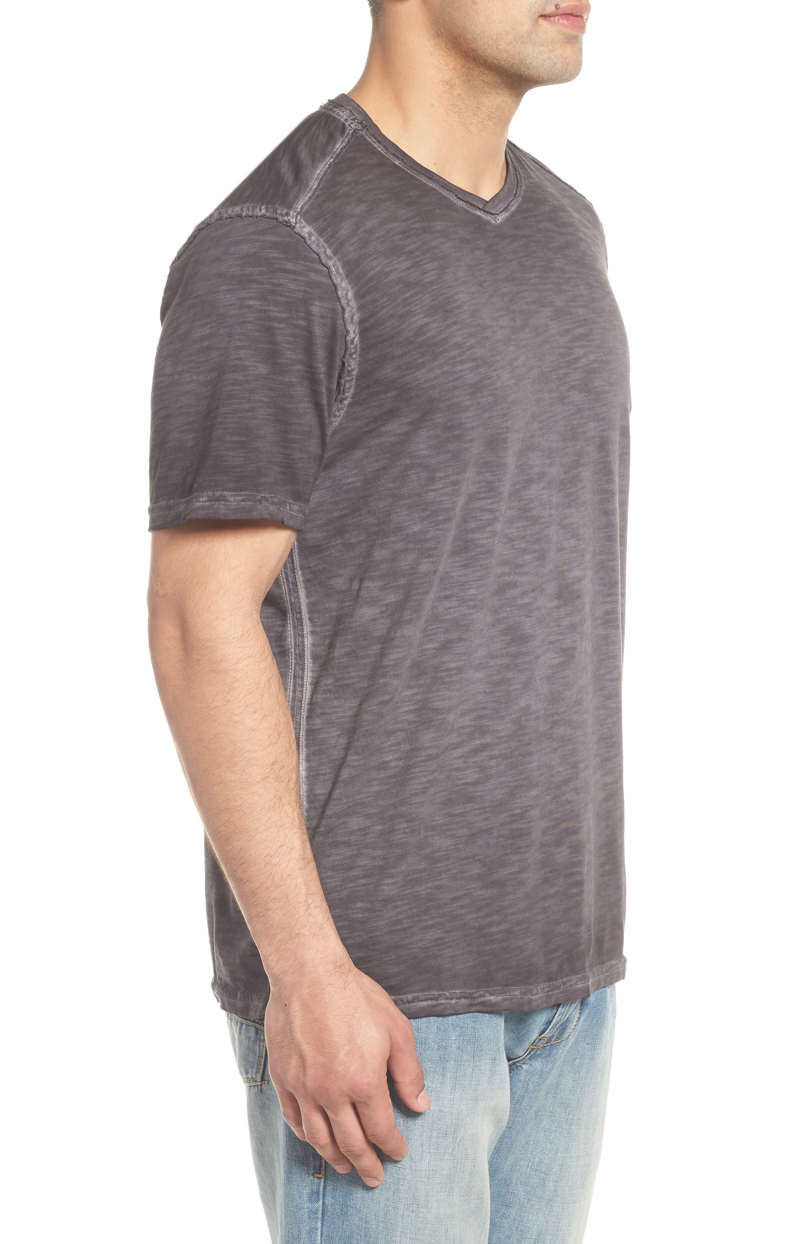 Suncoast Shores V-Neck T-Shirt,                             Alternate thumbnail 3, color,                             COAL