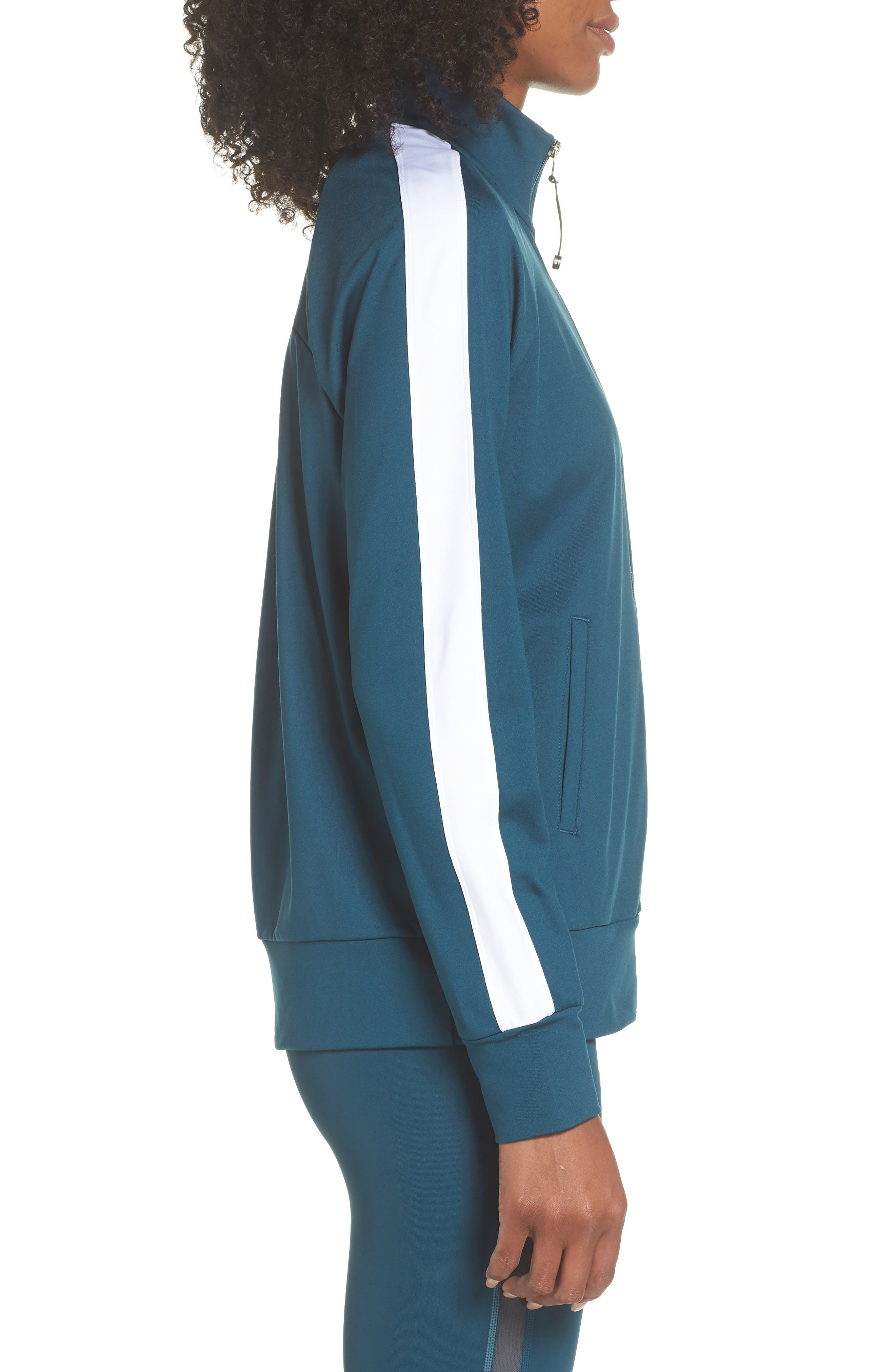 Taylor Track Jacket,                             Alternate thumbnail 3, color,                             TEAL ABYSS