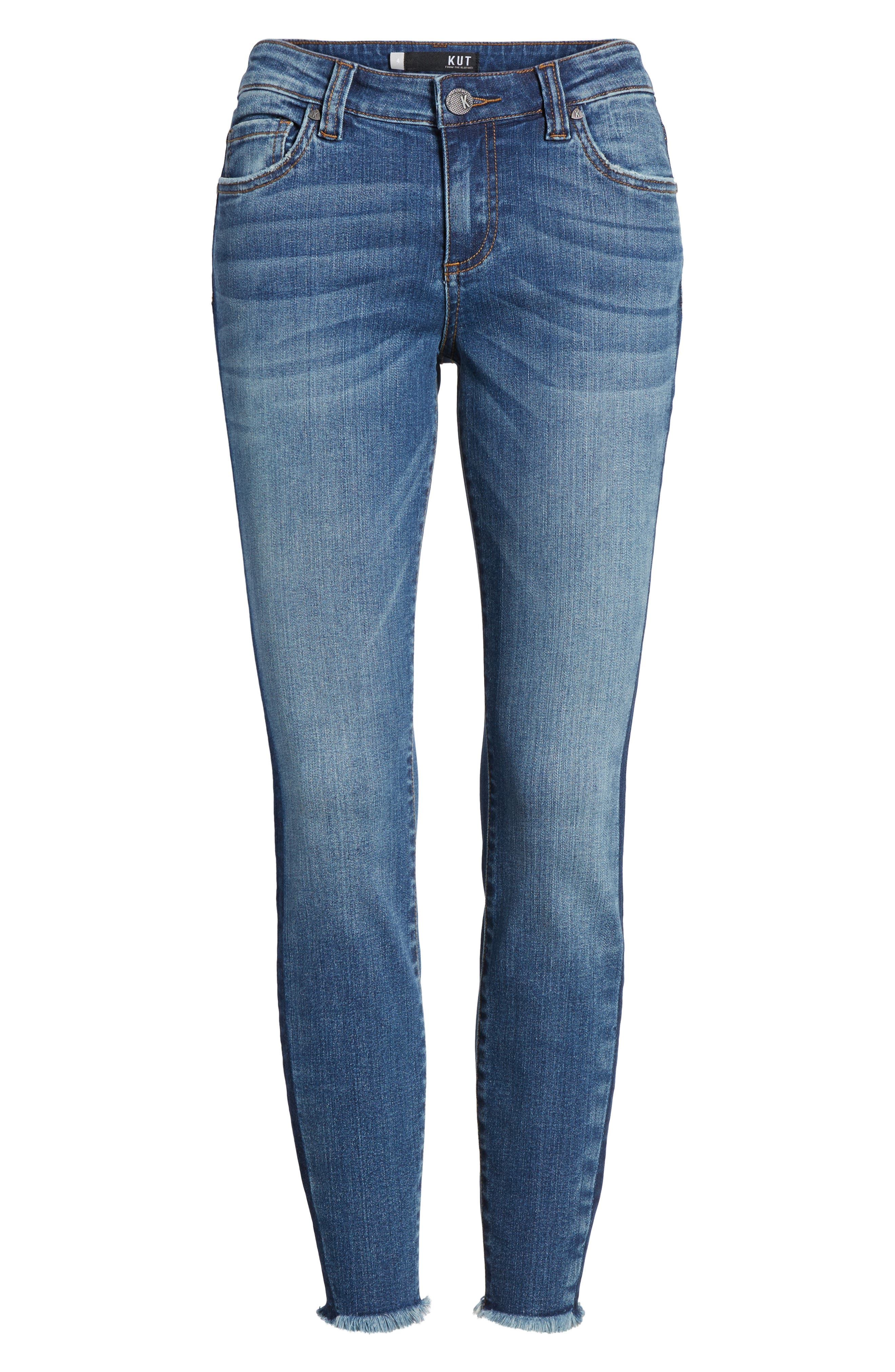 Connie Ankle Skinny Jeans,                             Alternate thumbnail 6, color,                             459