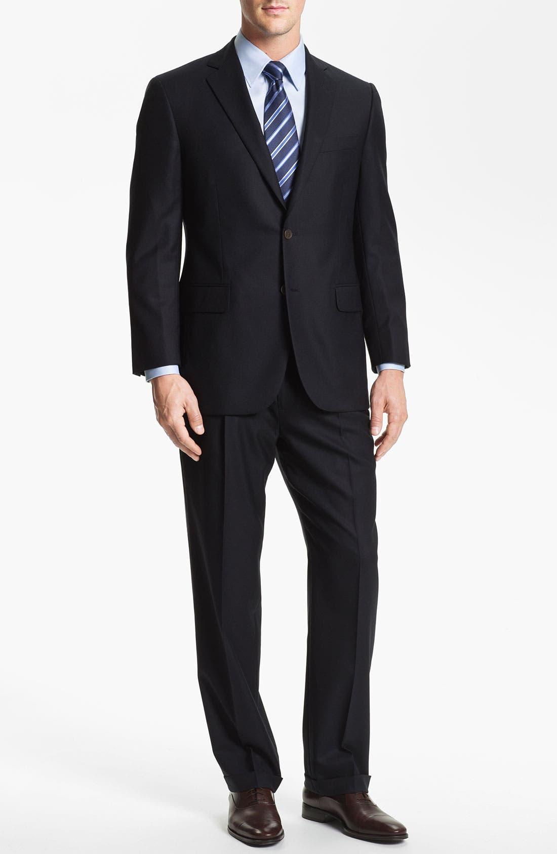 'Madison' Wool Suit,                             Alternate thumbnail 5, color,                             410