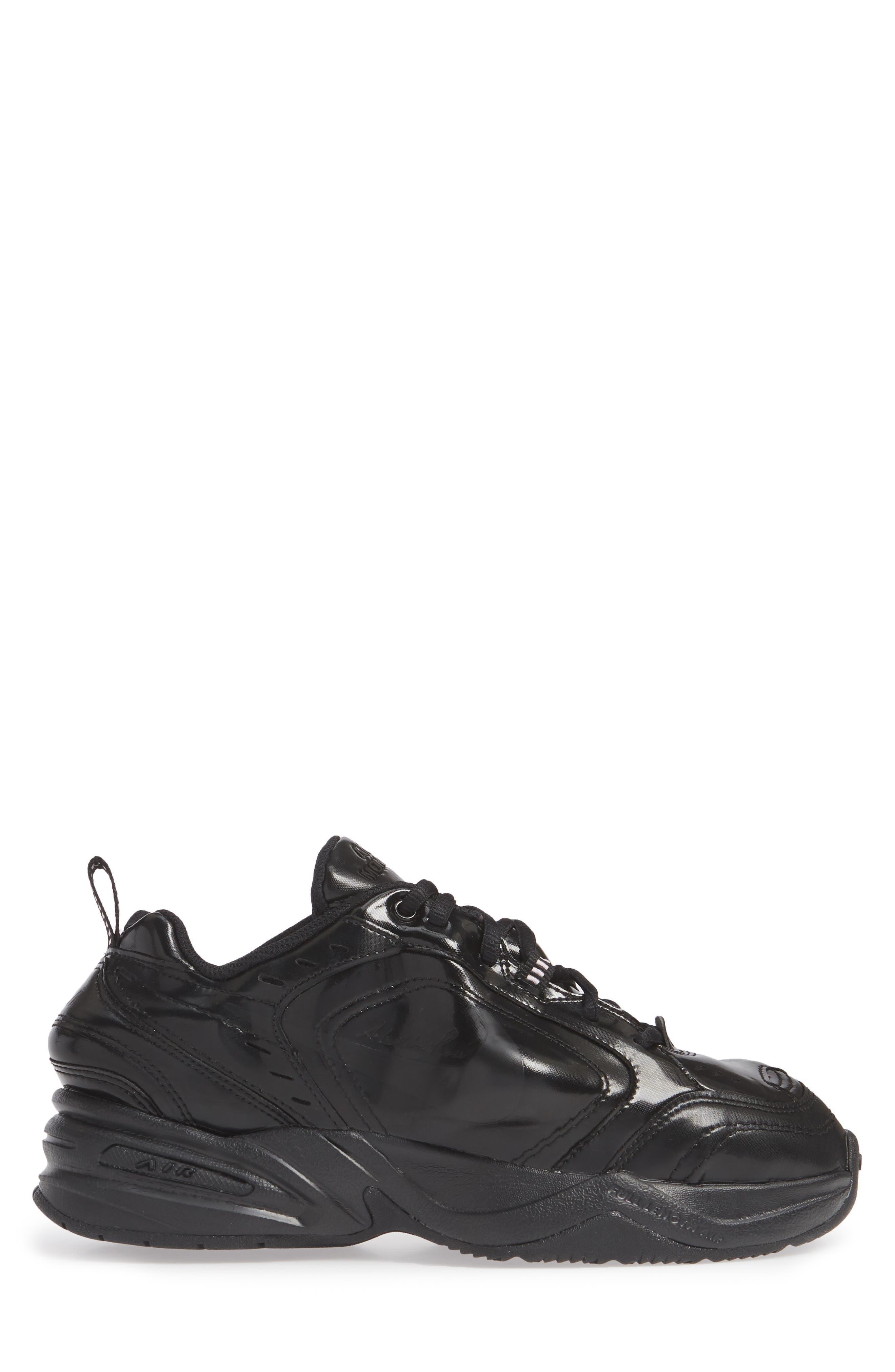 x Martine Rose Air Monarch IV Sneaker,                             Alternate thumbnail 3, color,                             BLACK/ SOFT PINK