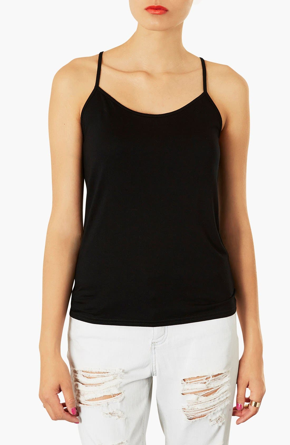 Strappy Camisole,                             Main thumbnail 1, color,                             001