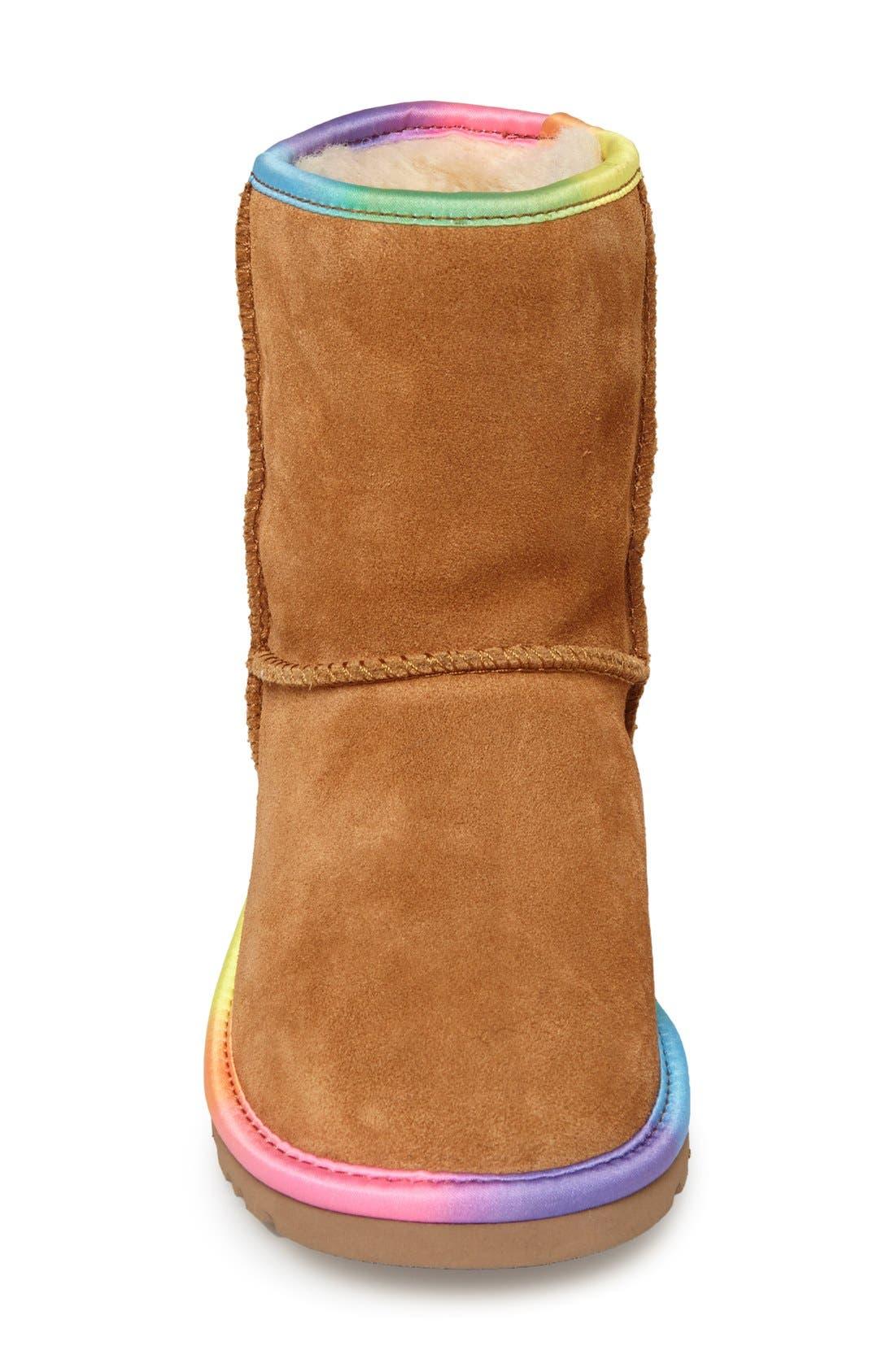 Australia 'Classic Short' Rainbow Boot,                             Alternate thumbnail 3, color,                             219