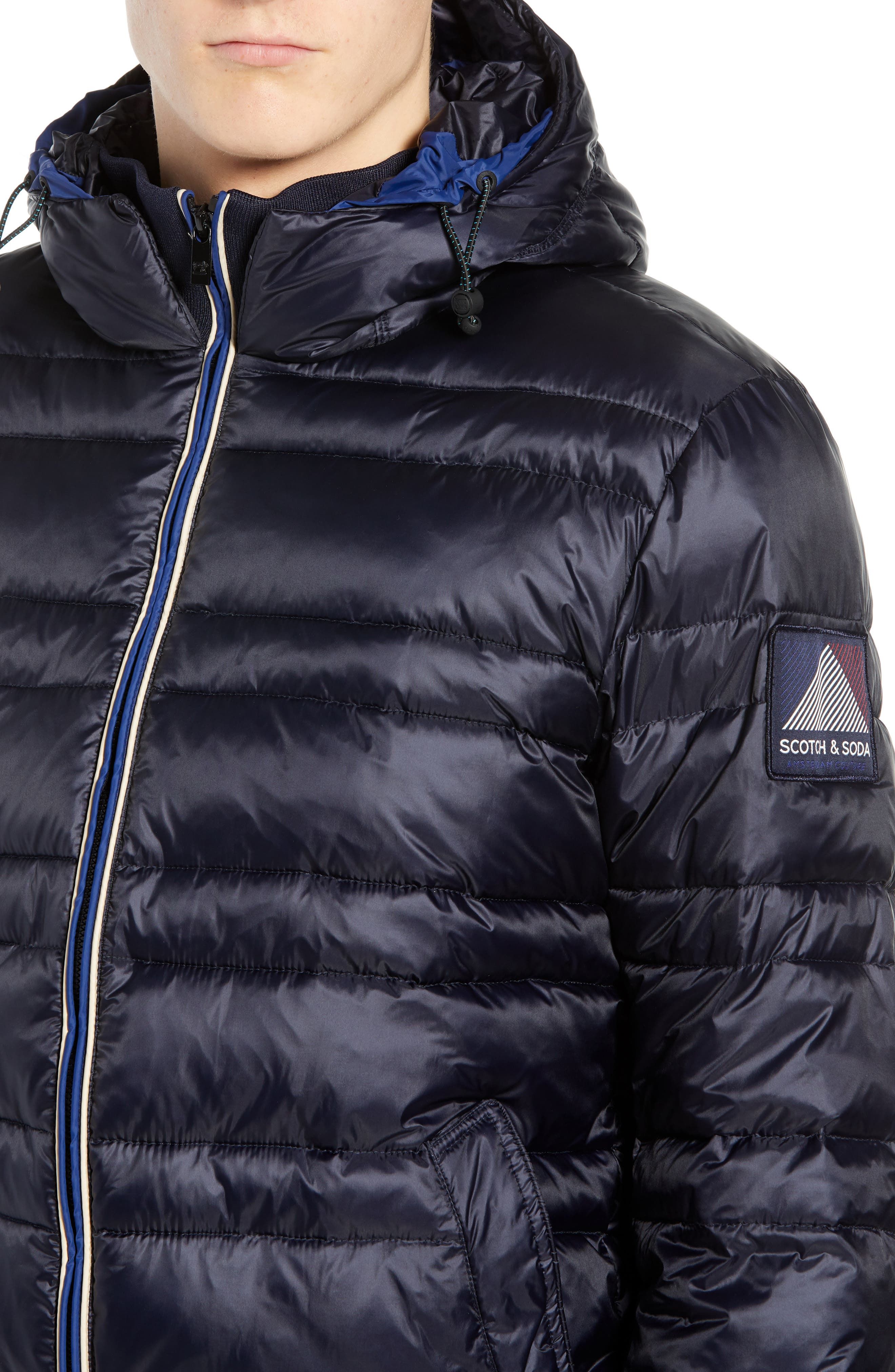 Quilted Puffer Jacket,                             Alternate thumbnail 4, color,                             NIGHT