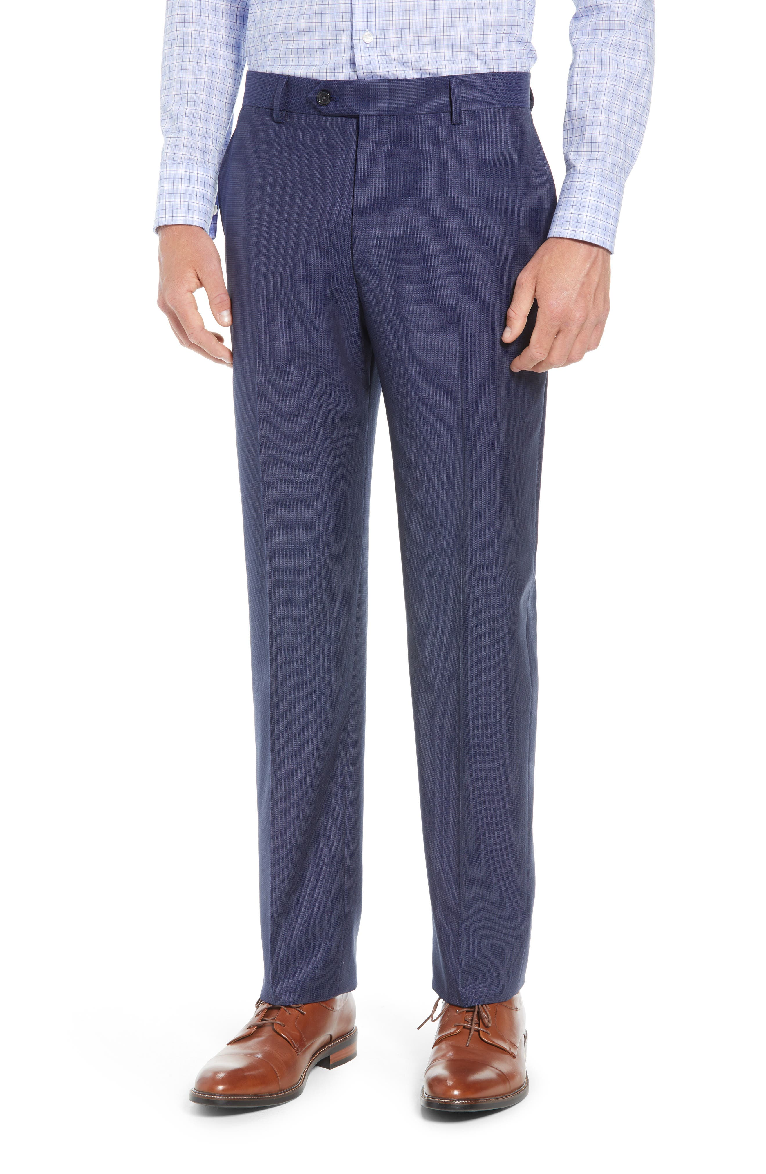 New York Classic Fit Check Wool Suit,                             Alternate thumbnail 6, color,                             400