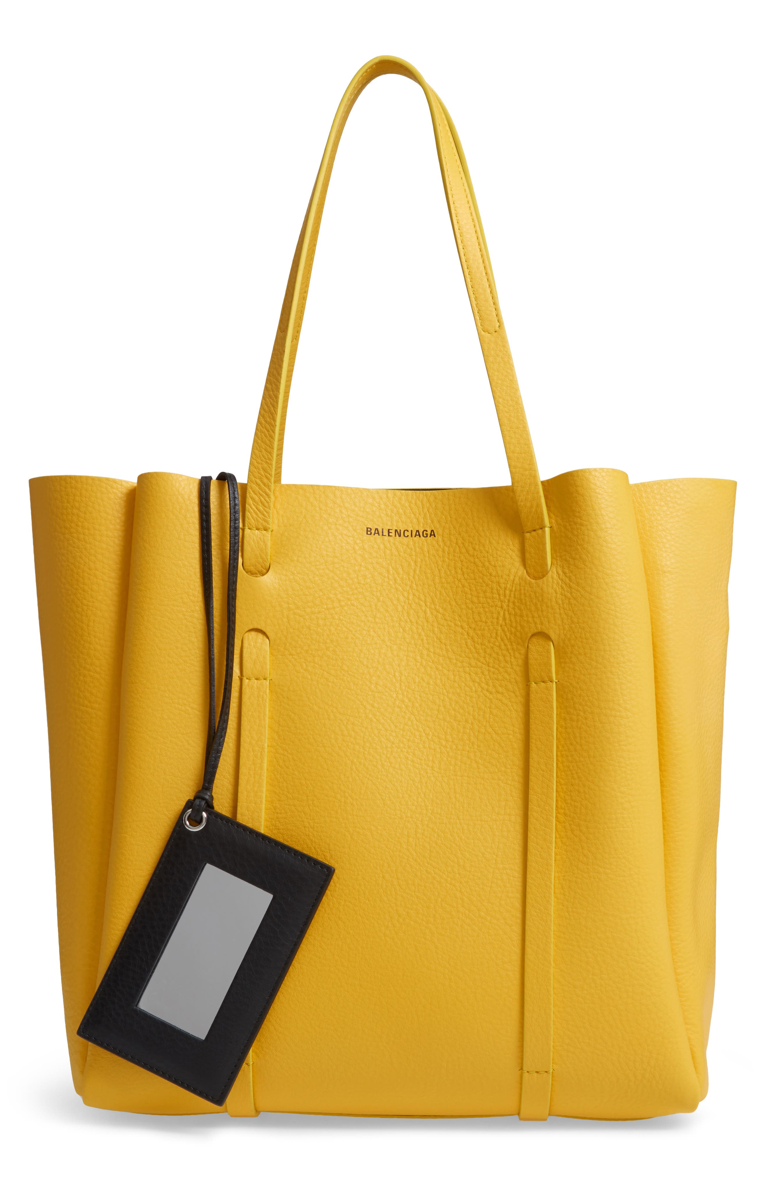 Small Everyday Calfskin Tote,                         Main,                         color, YELLOW/ NOIR